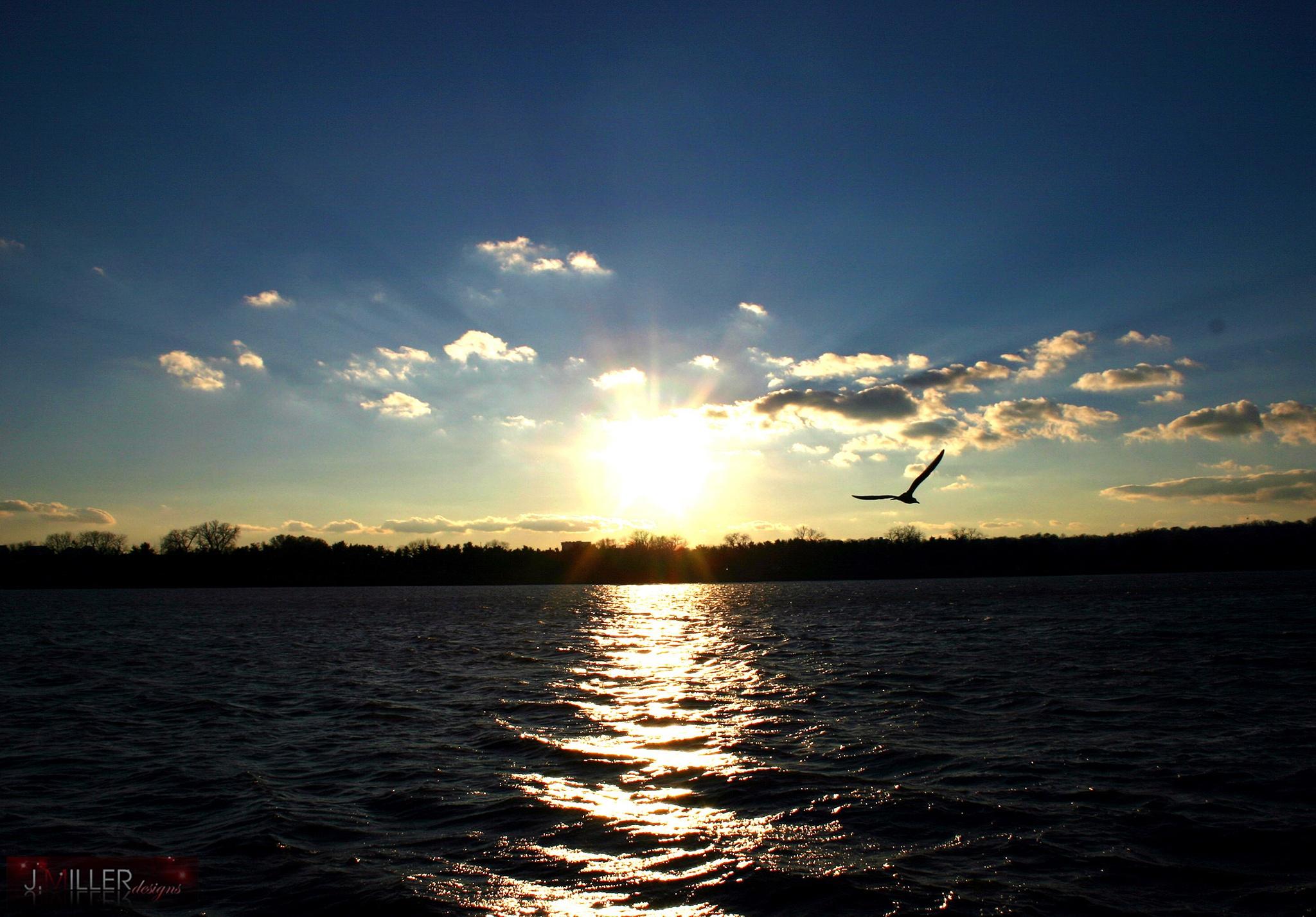 Potomac River Sunset by Justin Miller
