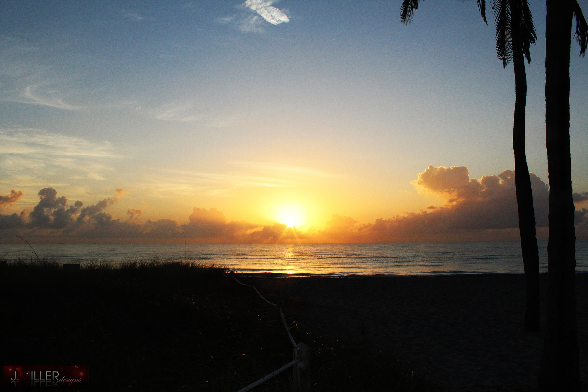 Hollywood Beach Sunrise by Justin Miller