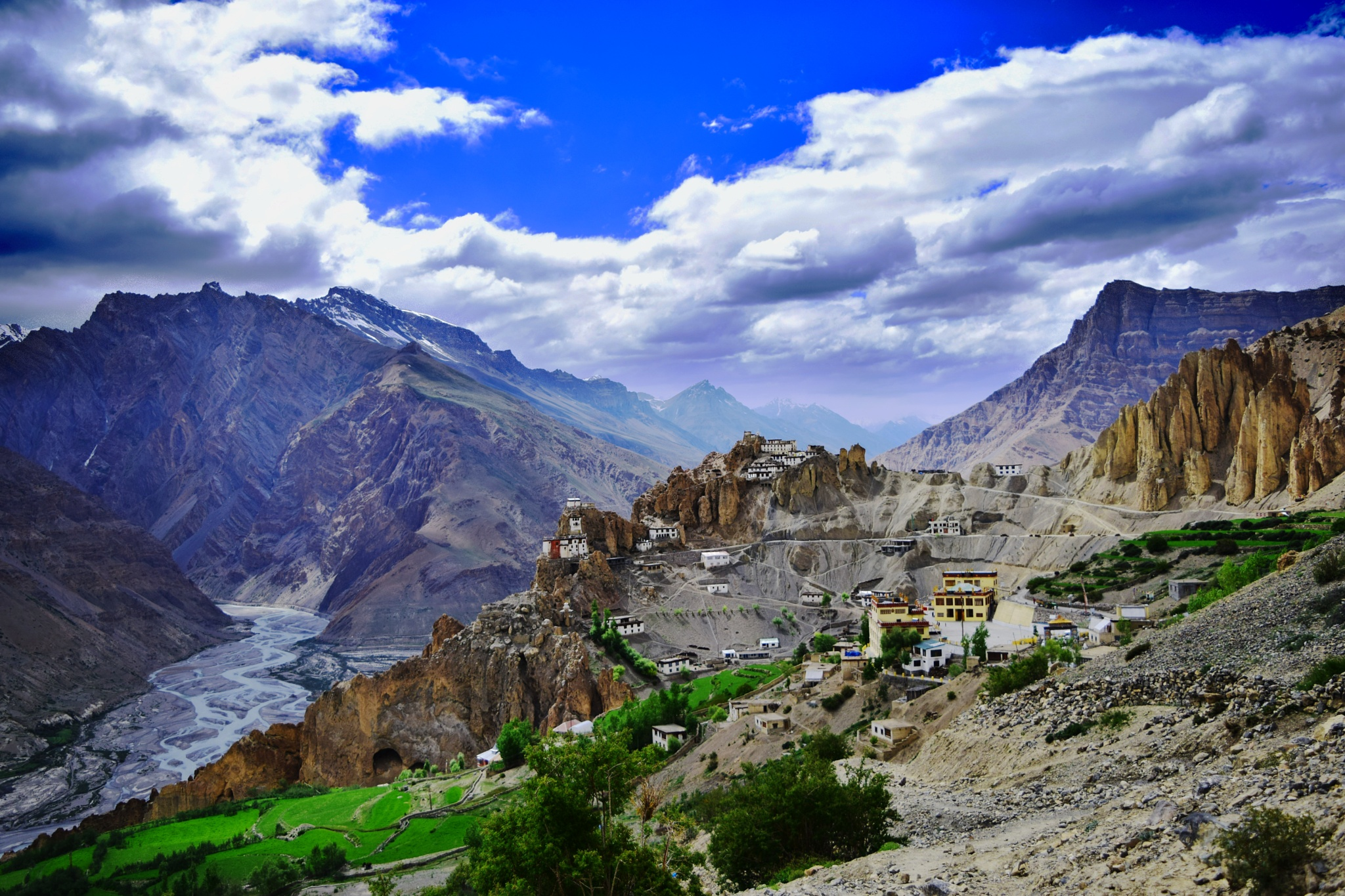 Great Himalayan desert valley.... by Parijat Kundu