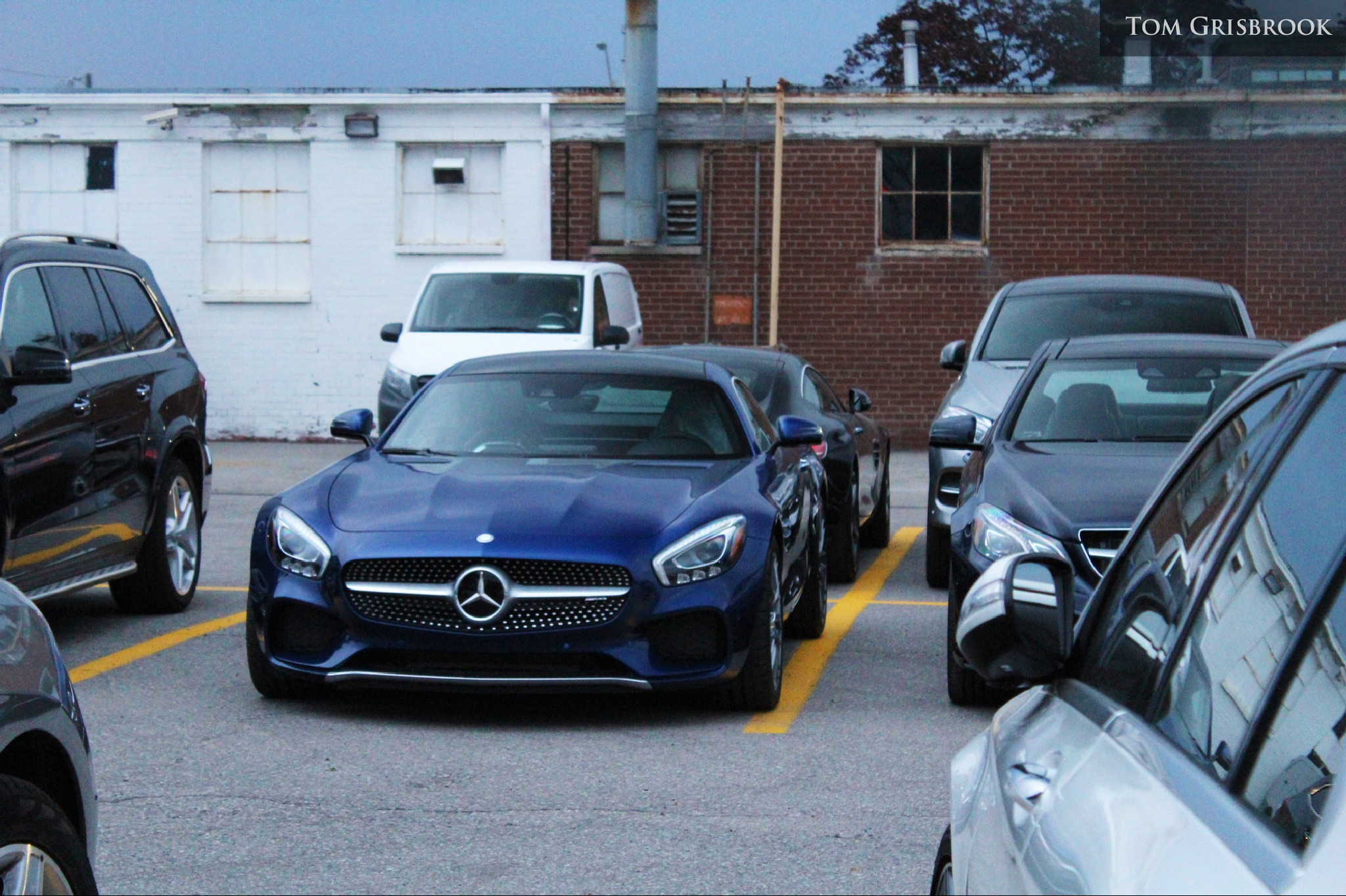 Blue AMG GTS by Tom Grisbrook