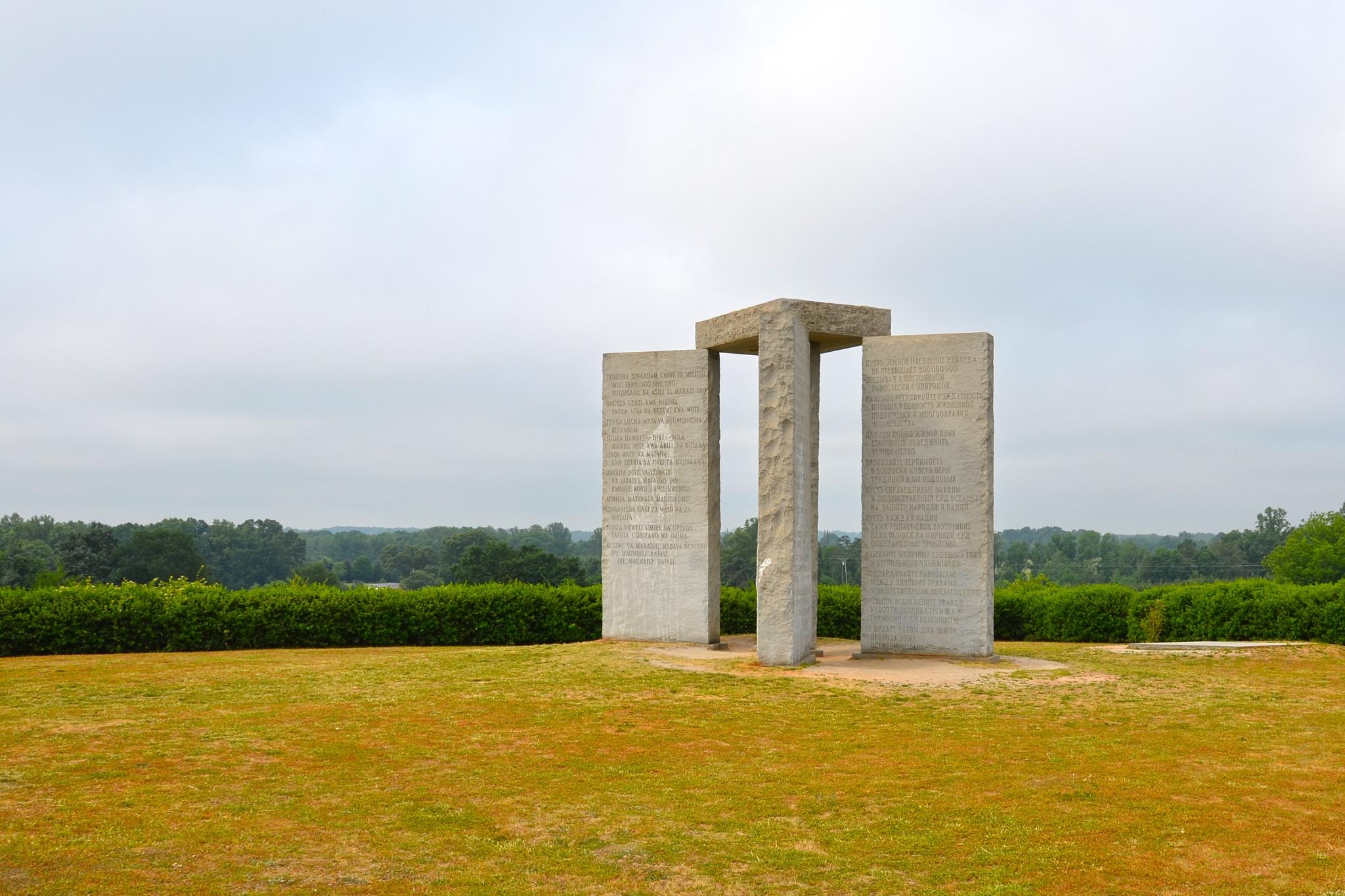 The Georgia Guidestones by Stuart Sarjeant