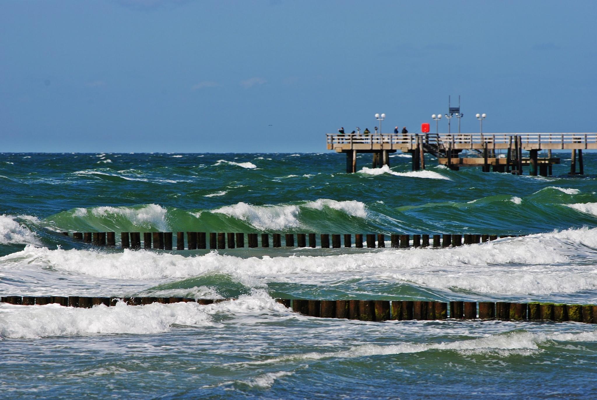 stormy Baltic Sea... by  Jutta