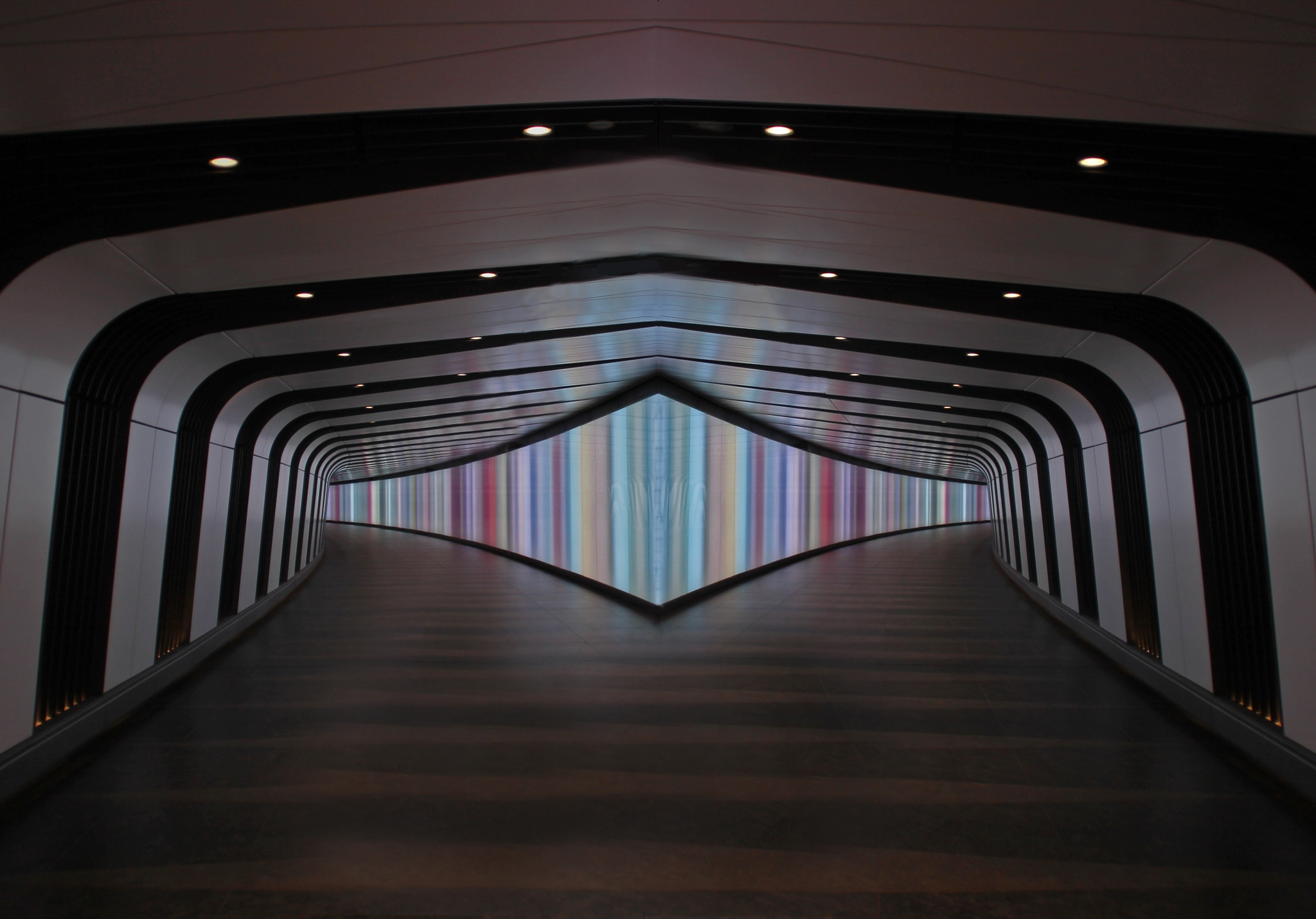 Photo in Architecture #kingscross #stpancras #london #underground #colour #lights #leading #lines #canon #tamron #18-200 #black&white #symetry #image #manipulations