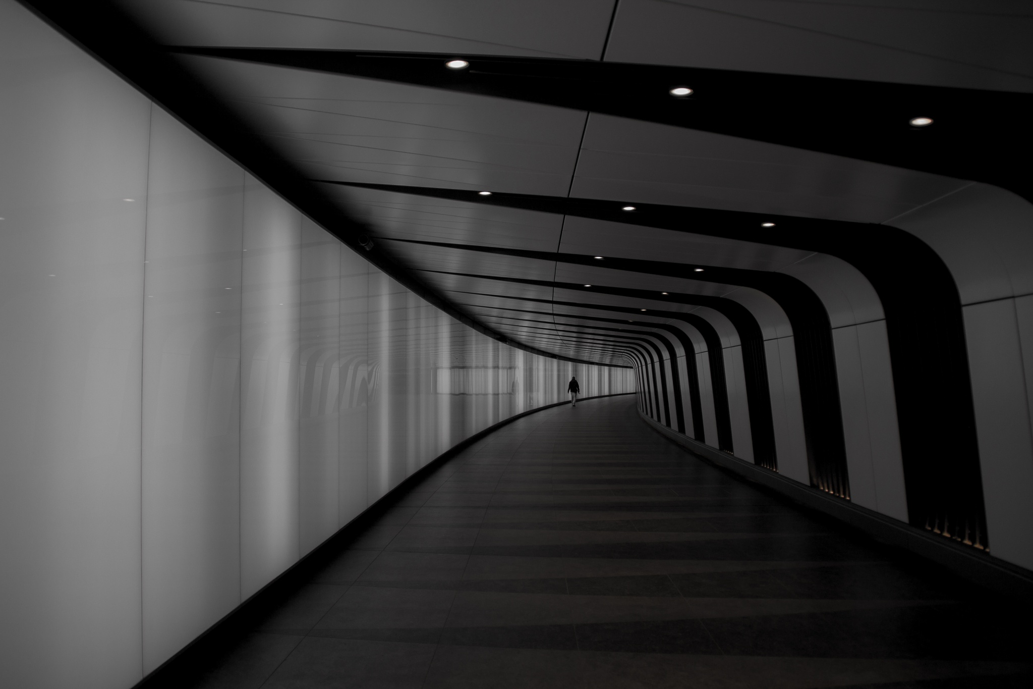 Black and white tunnel by BradBaileyPhotography