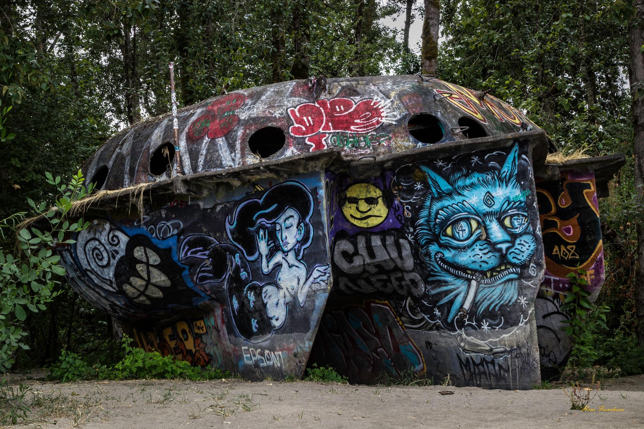 Experimental graffiti by Hans Franchesco