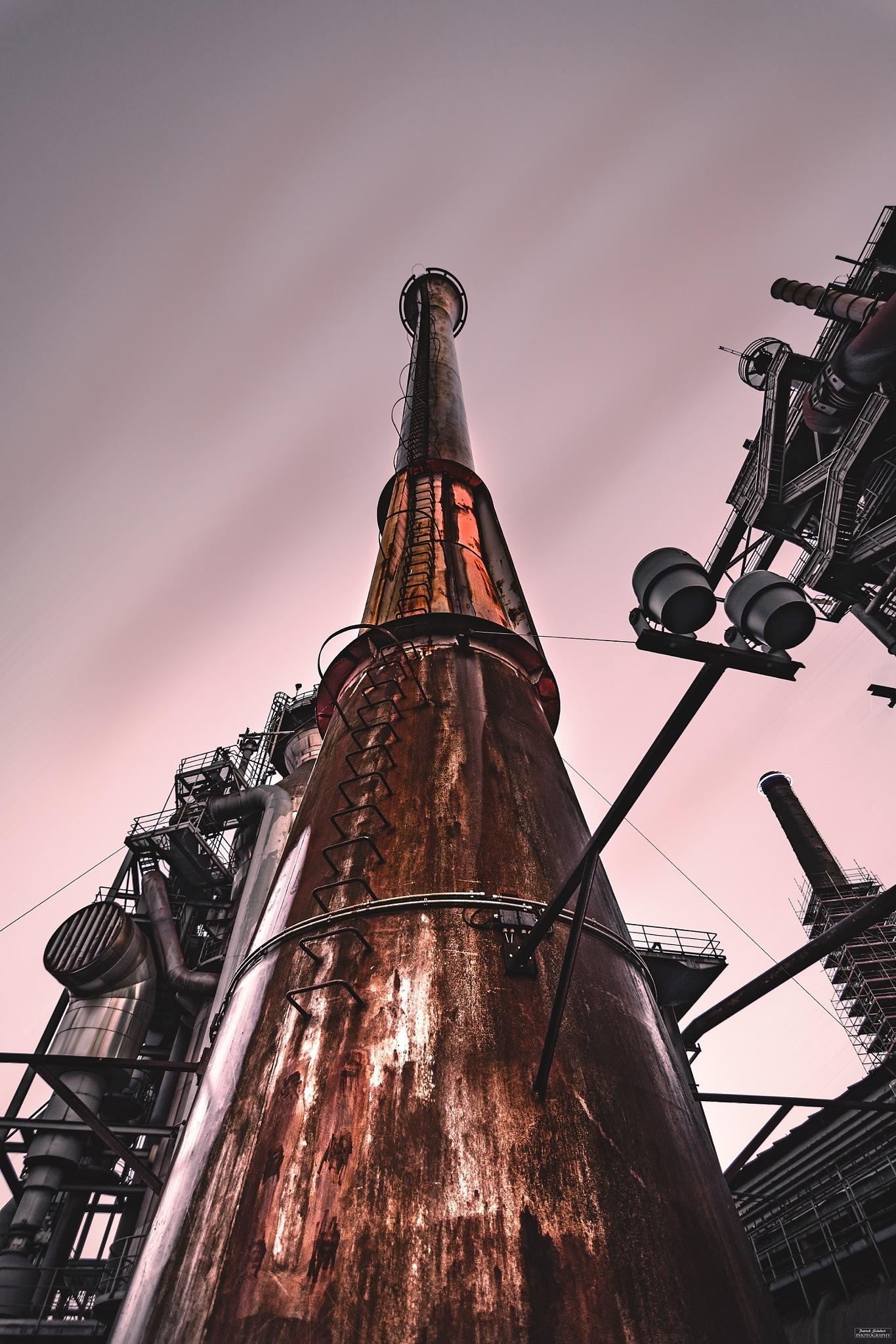 Photo in Industrial #chimney #schornstein #detail #lapadu #landschaftspark #duisburg #nrw #ruhrgebiet #ruhrpott #industrie #industry #nikon