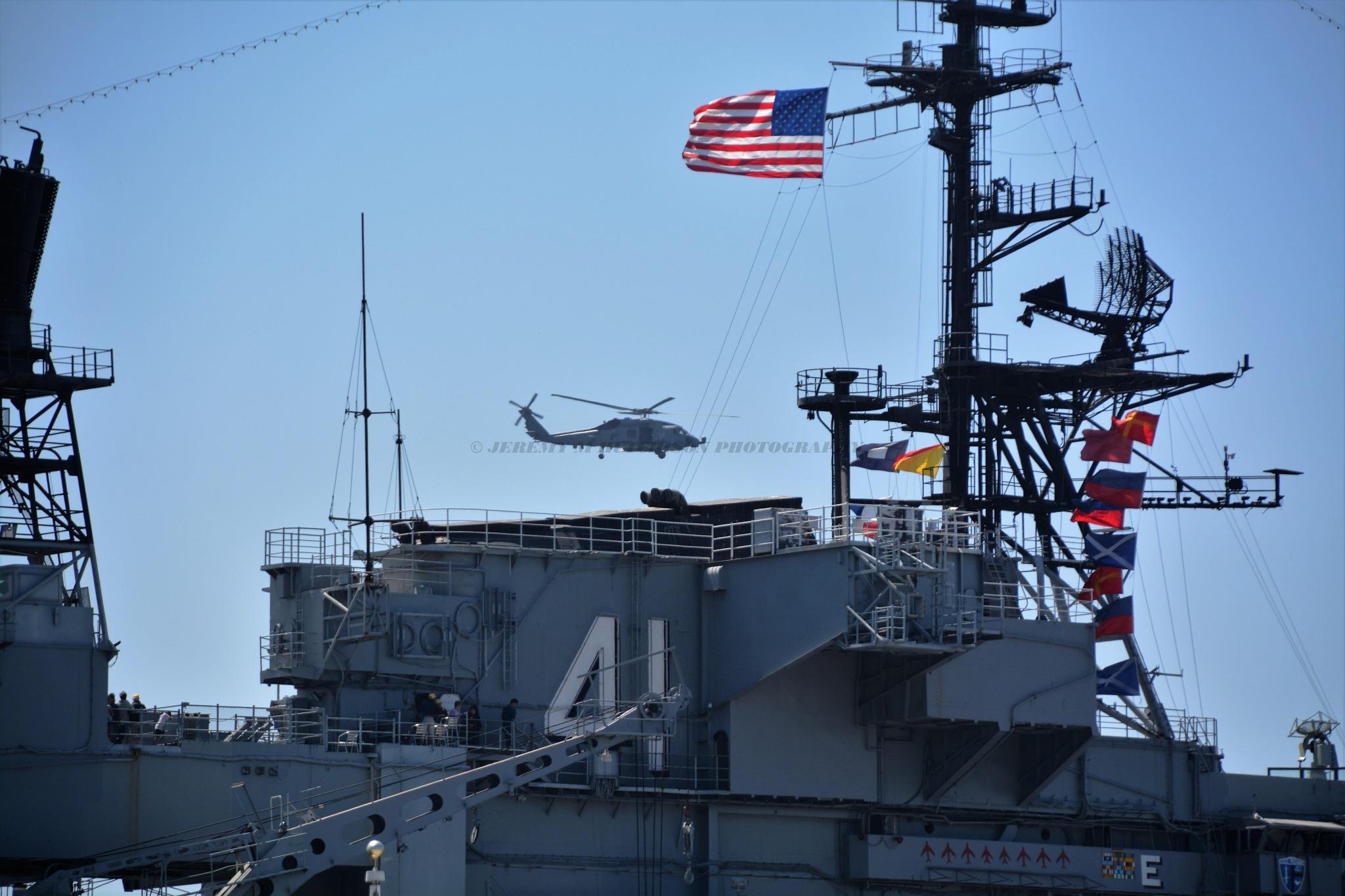 USS Midway San Diego Fleet Week by Jeremy M Hutchison
