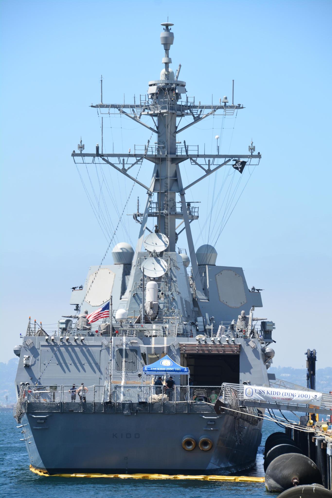 USS Kidd San Diego Fleet Week by Jeremy M Hutchison