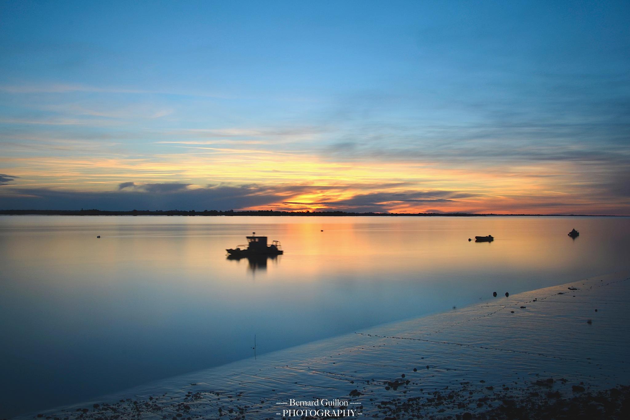 Blue hour on the estuary by Bernard Guillon