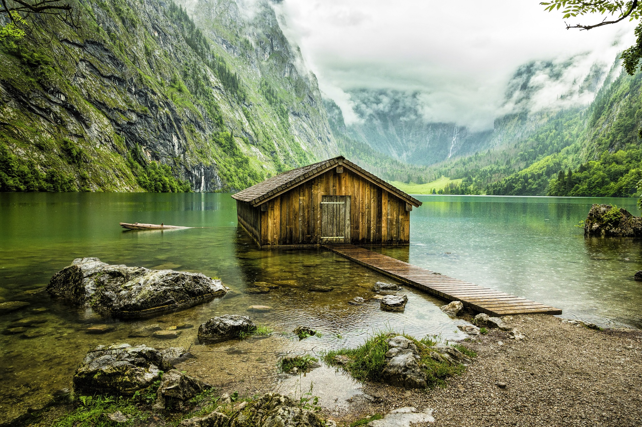 Boathouse on Obersee by Mladen Bozickovic