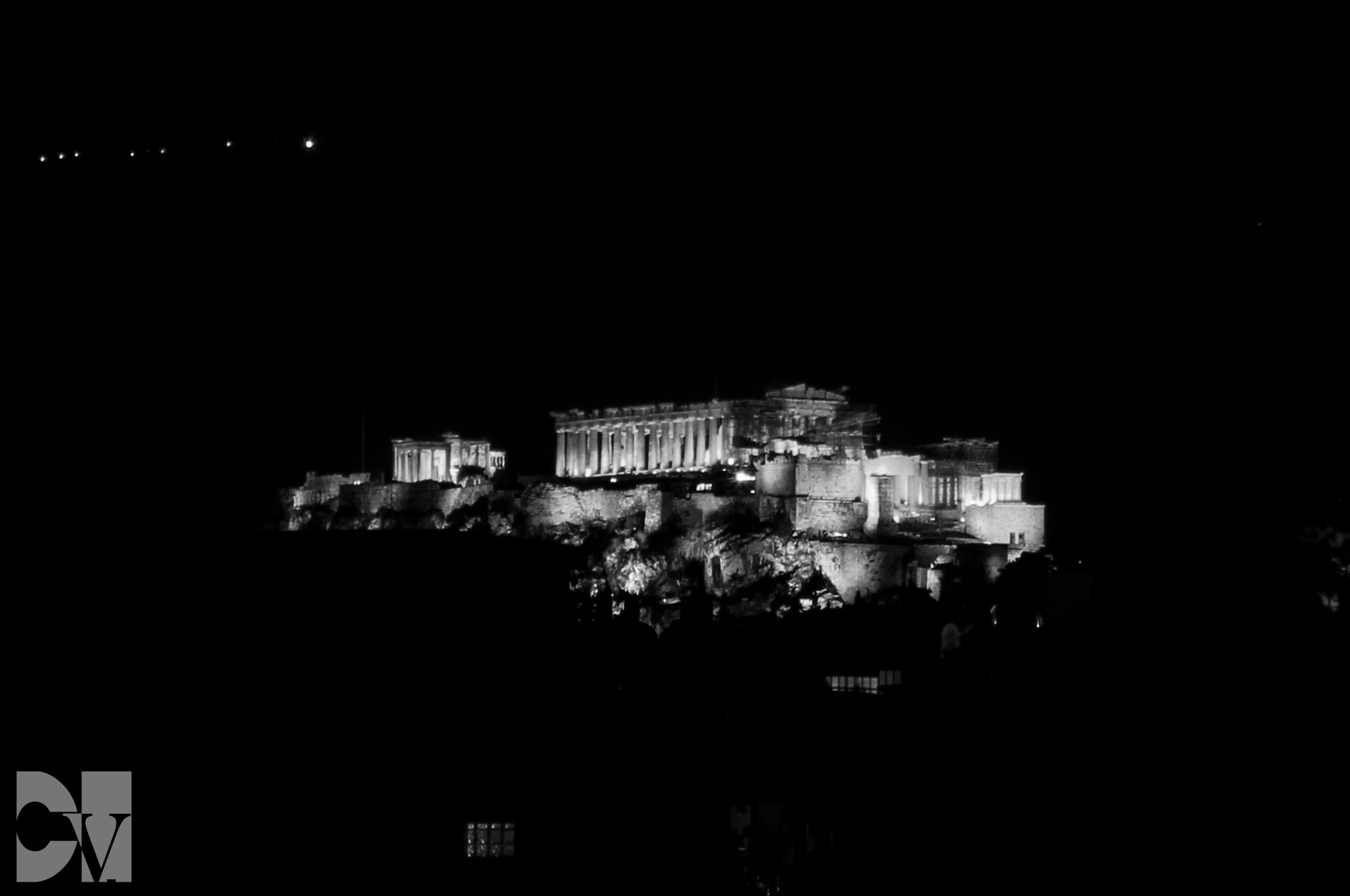 Acropolis by night by CVphotography
