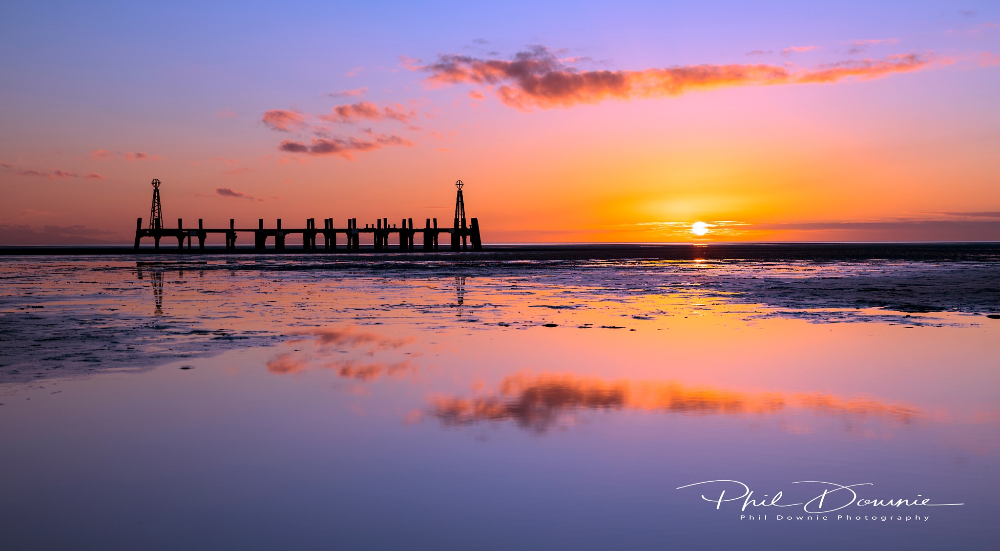 Lilac sunset by Phil Downie