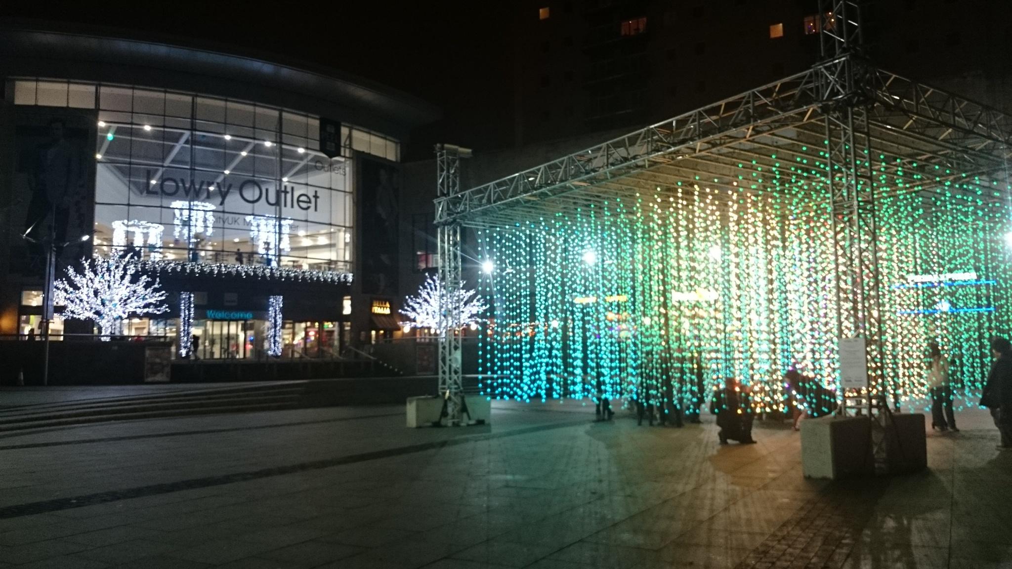 Lowry lights by Phil Downie