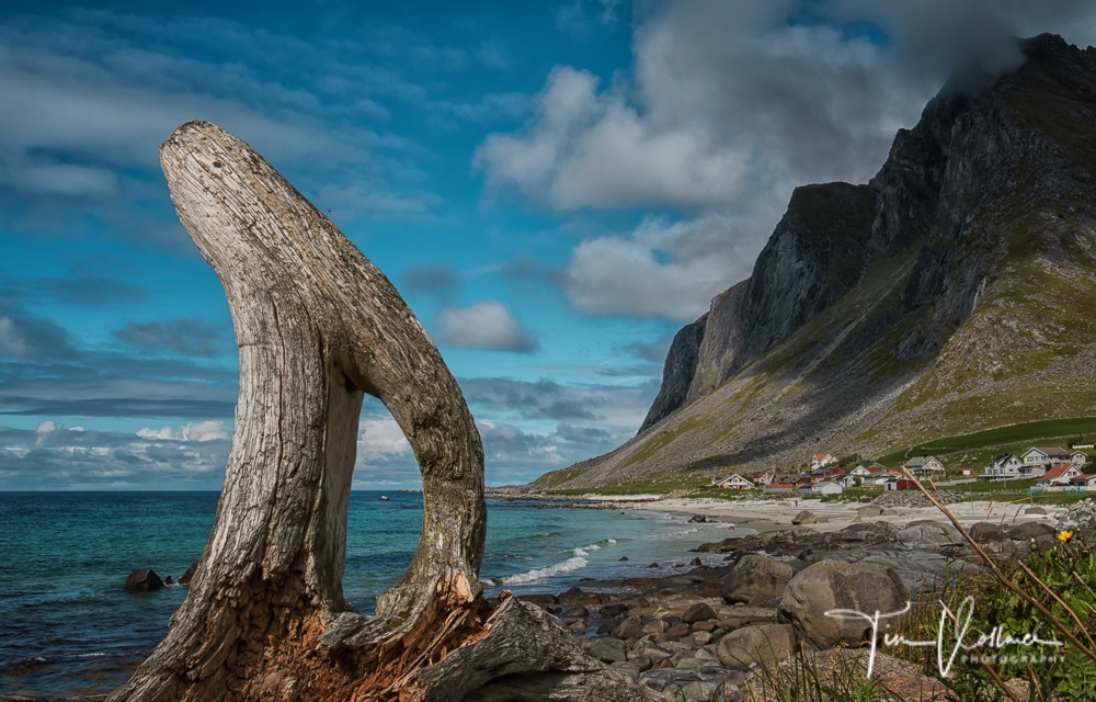 Driving along the Fjords in Lofoten/Norway.  by Tim Vollmer