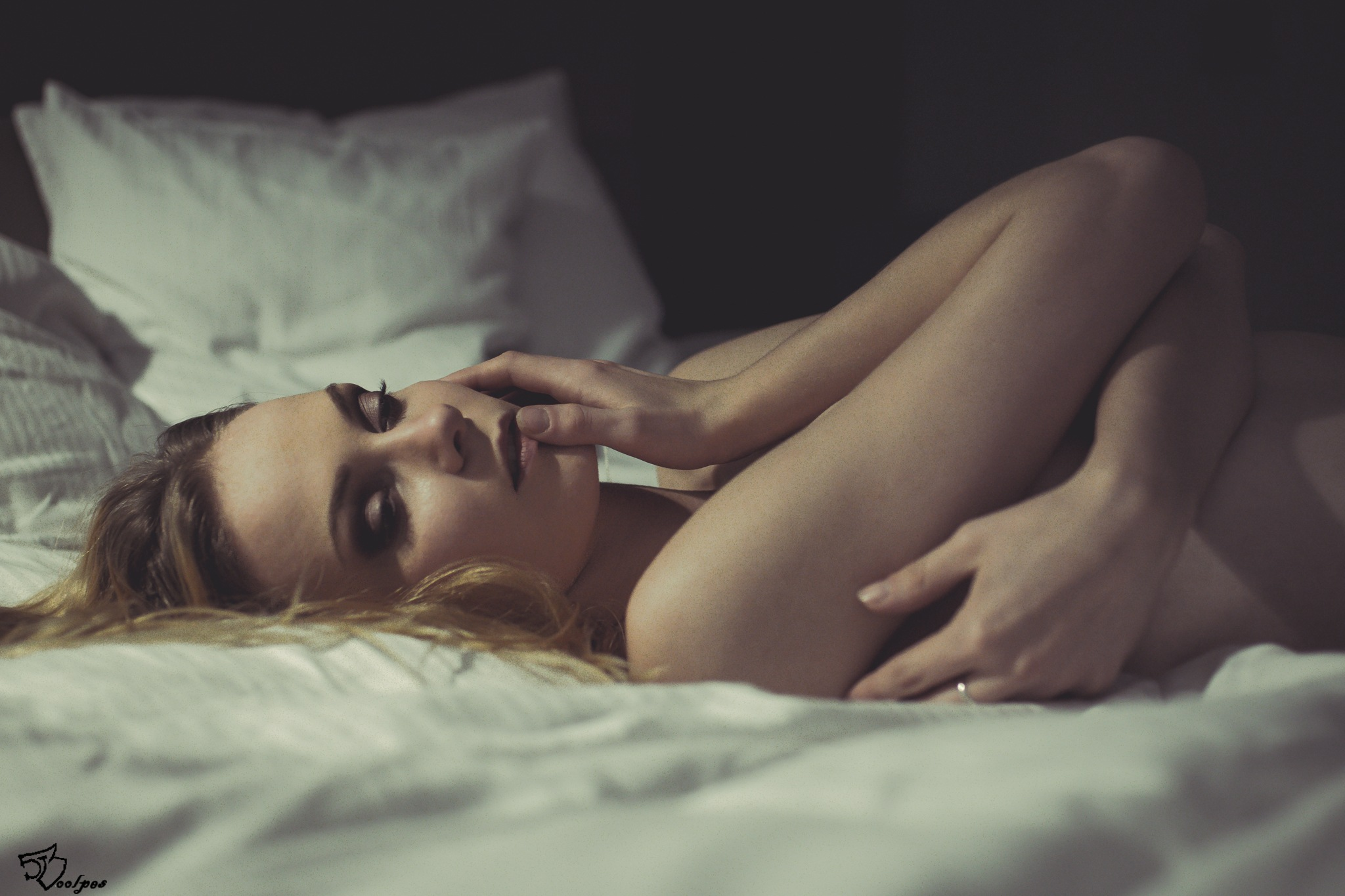 Photo in Nude #nude #naked #body #bed #girl #woman #session #blonde #sony #slt-a77v