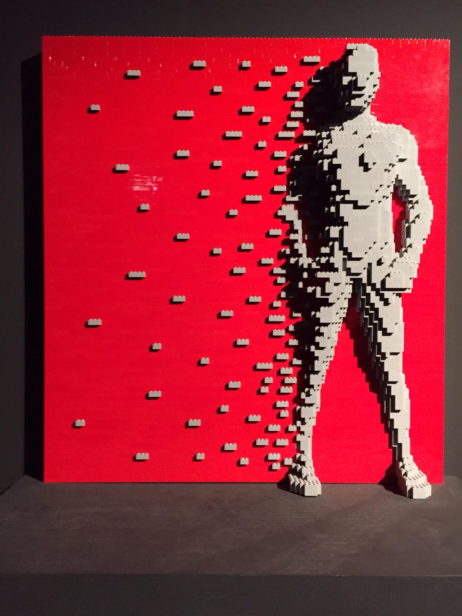 LEGO sculpture by Nathan Sawaya  by Douwe Hoekstra