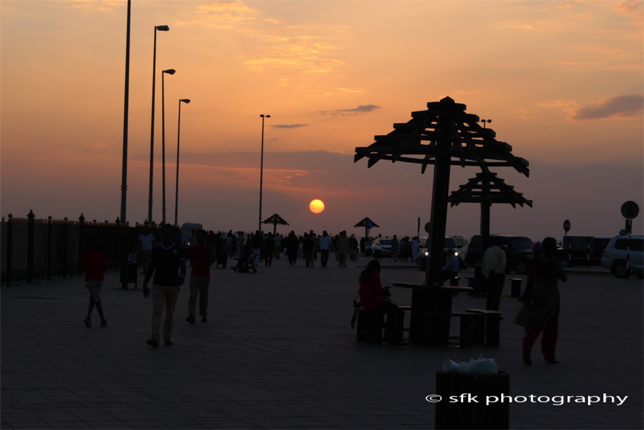 Sunset at Jabal Afeet by Shefeek Thottekkara