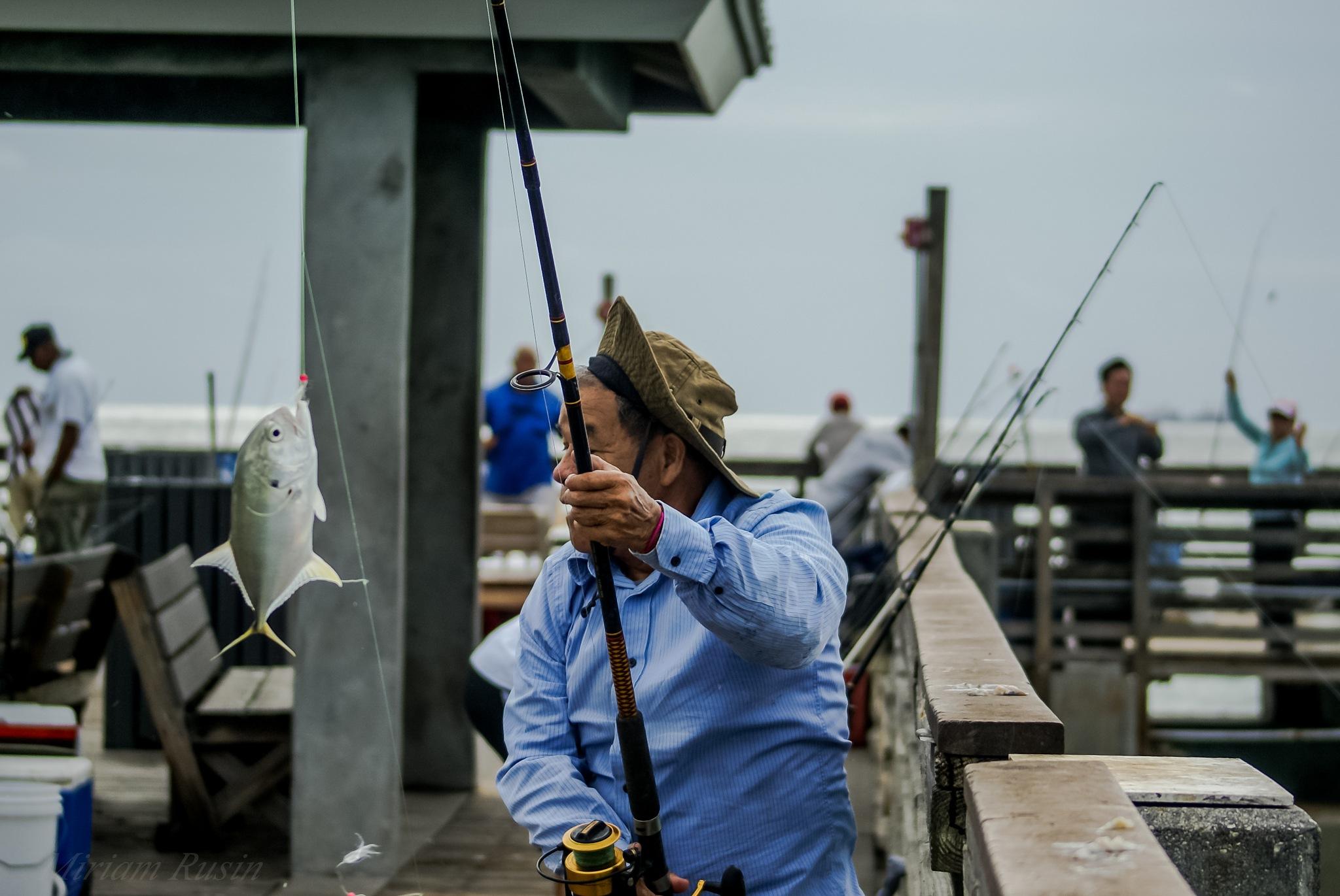 Happy catch the fish by miriamrusin