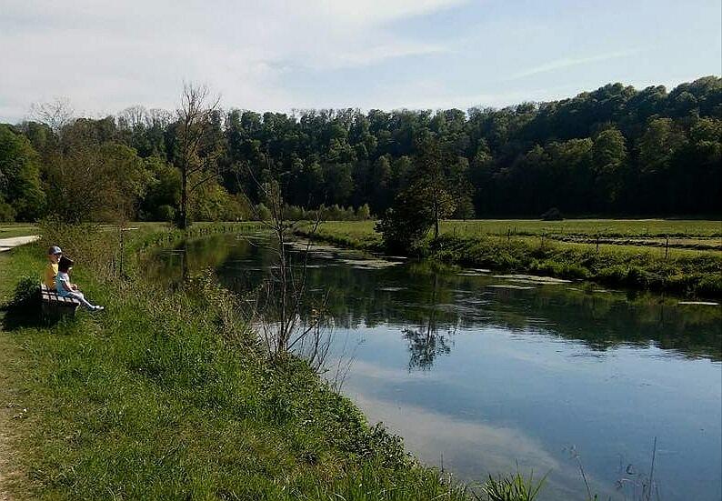 on Brenz river by Iri Rusu
