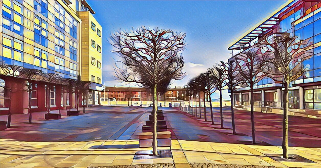 Humber quays trees by uniqueimagesofhull