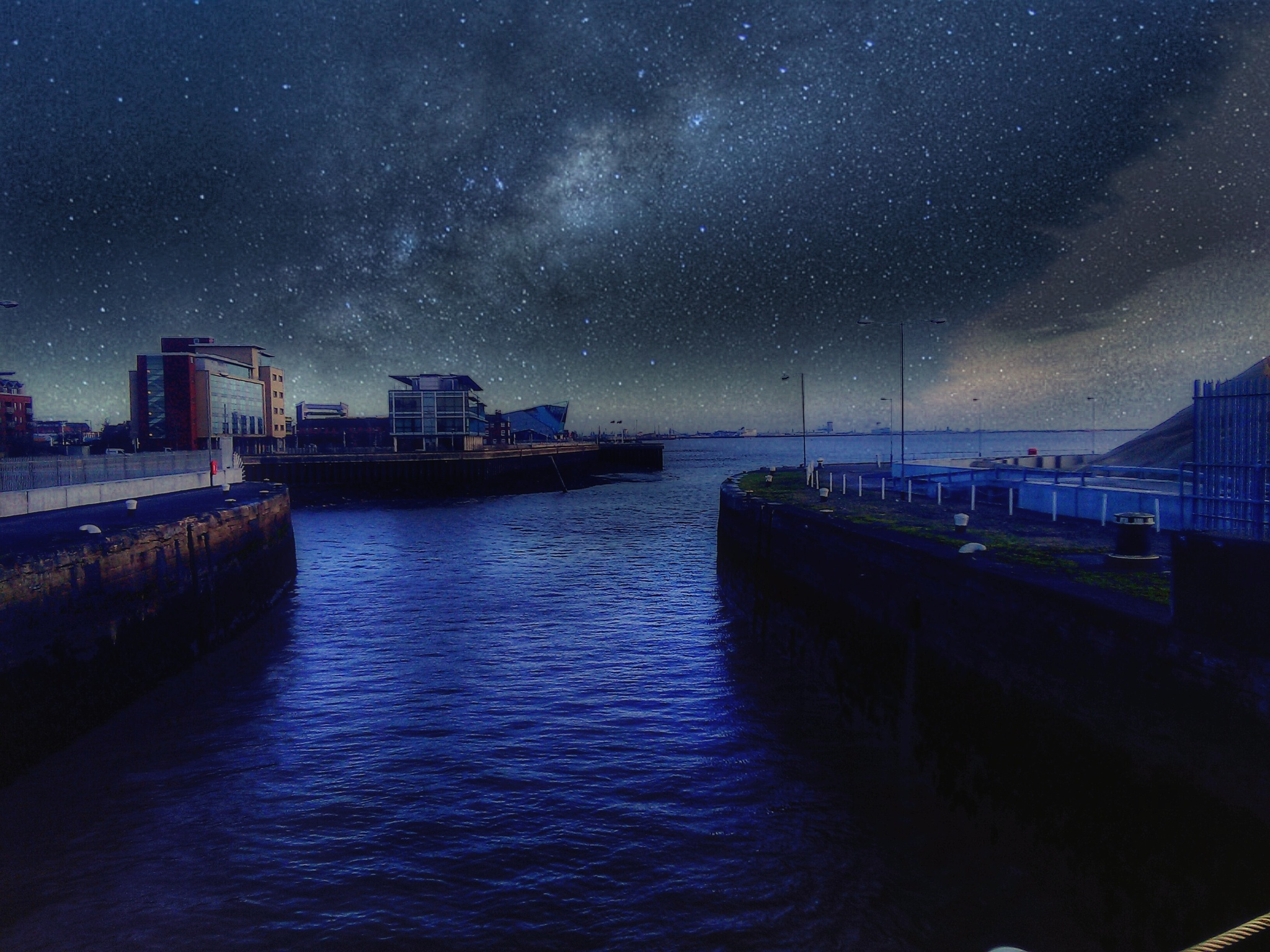 Star sky glow. dock by uniqueimagesofhull