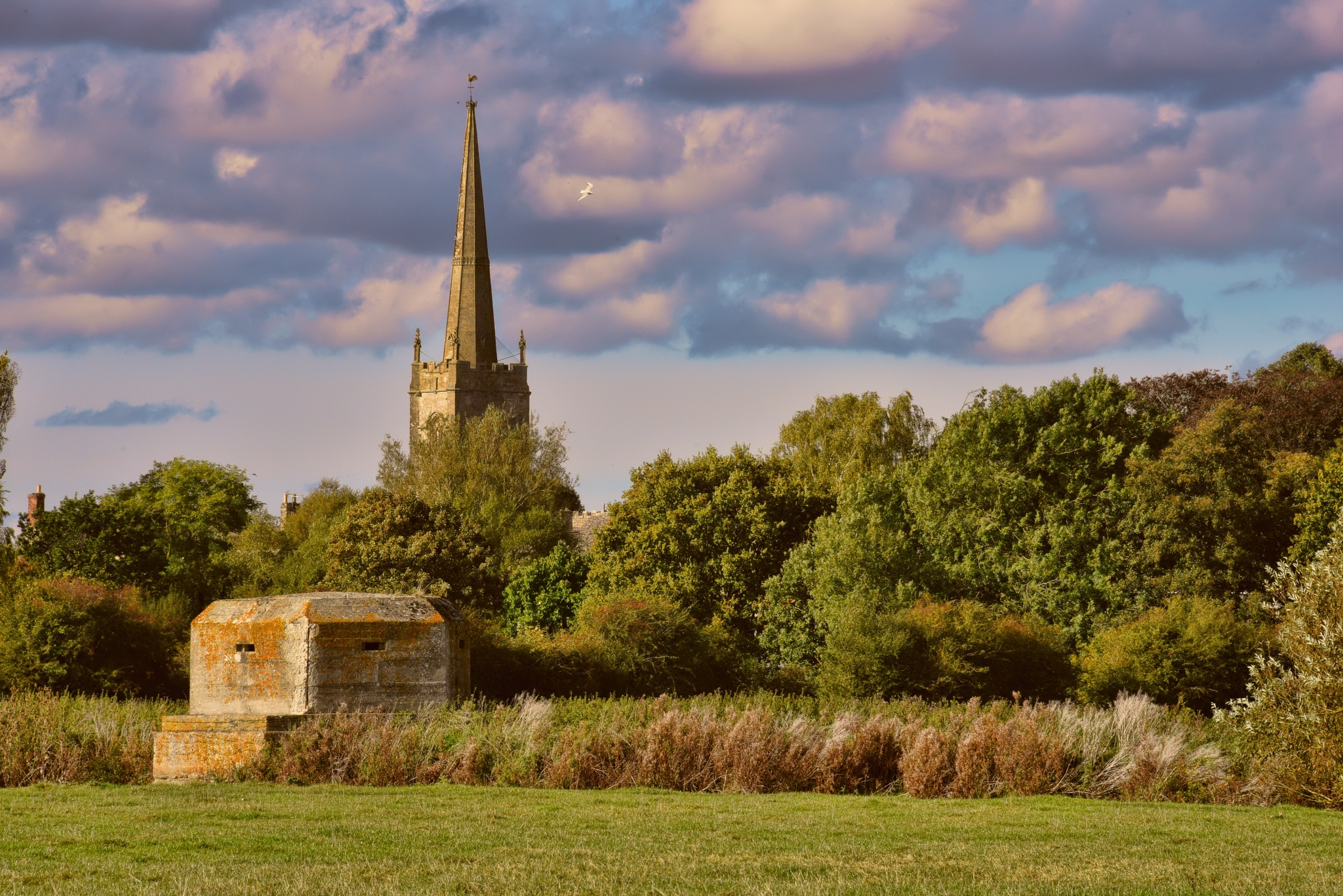 The Church and the WWII Pillbox by Garry Evans