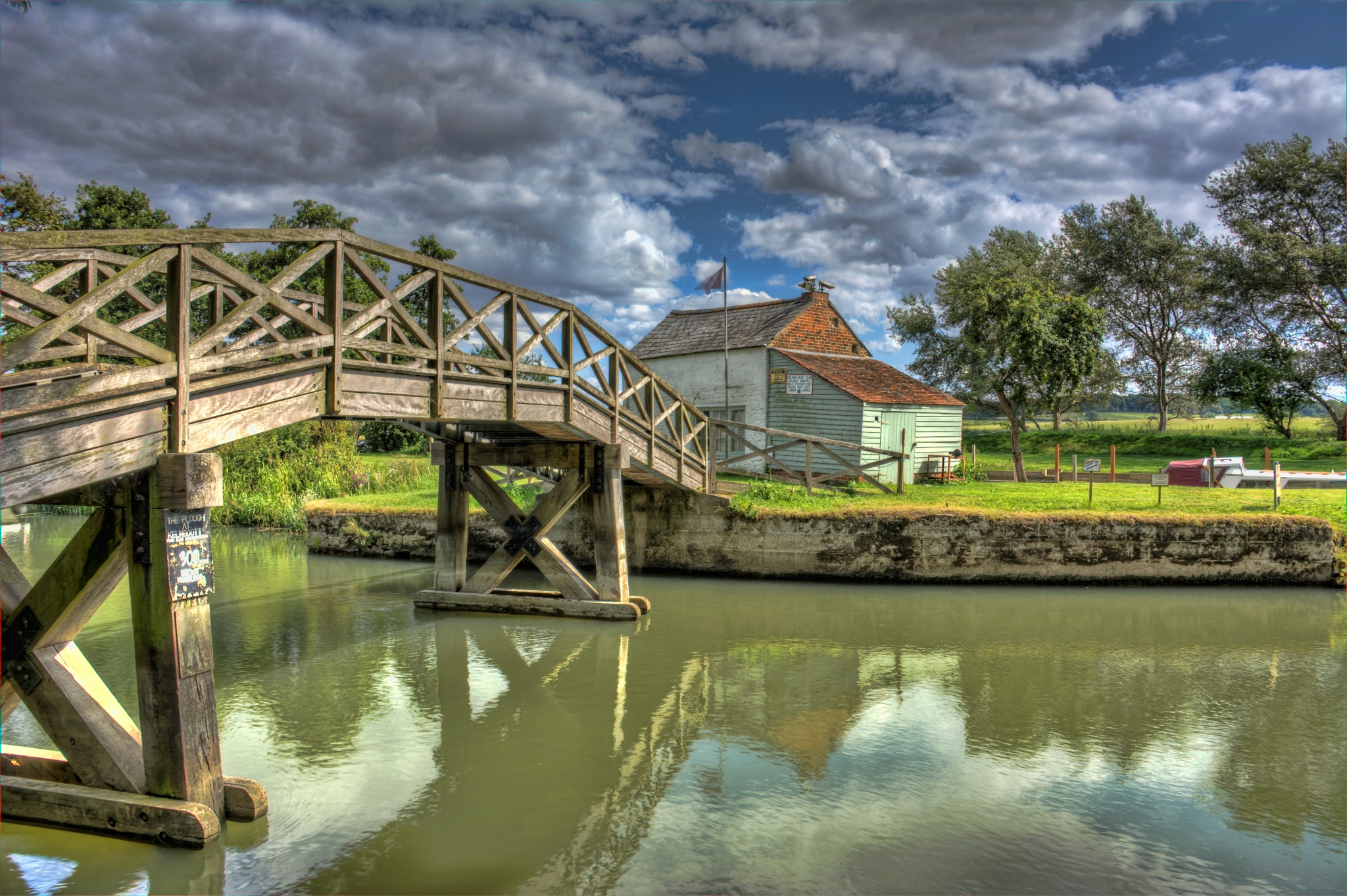 Bridge over the river by Garry Evans