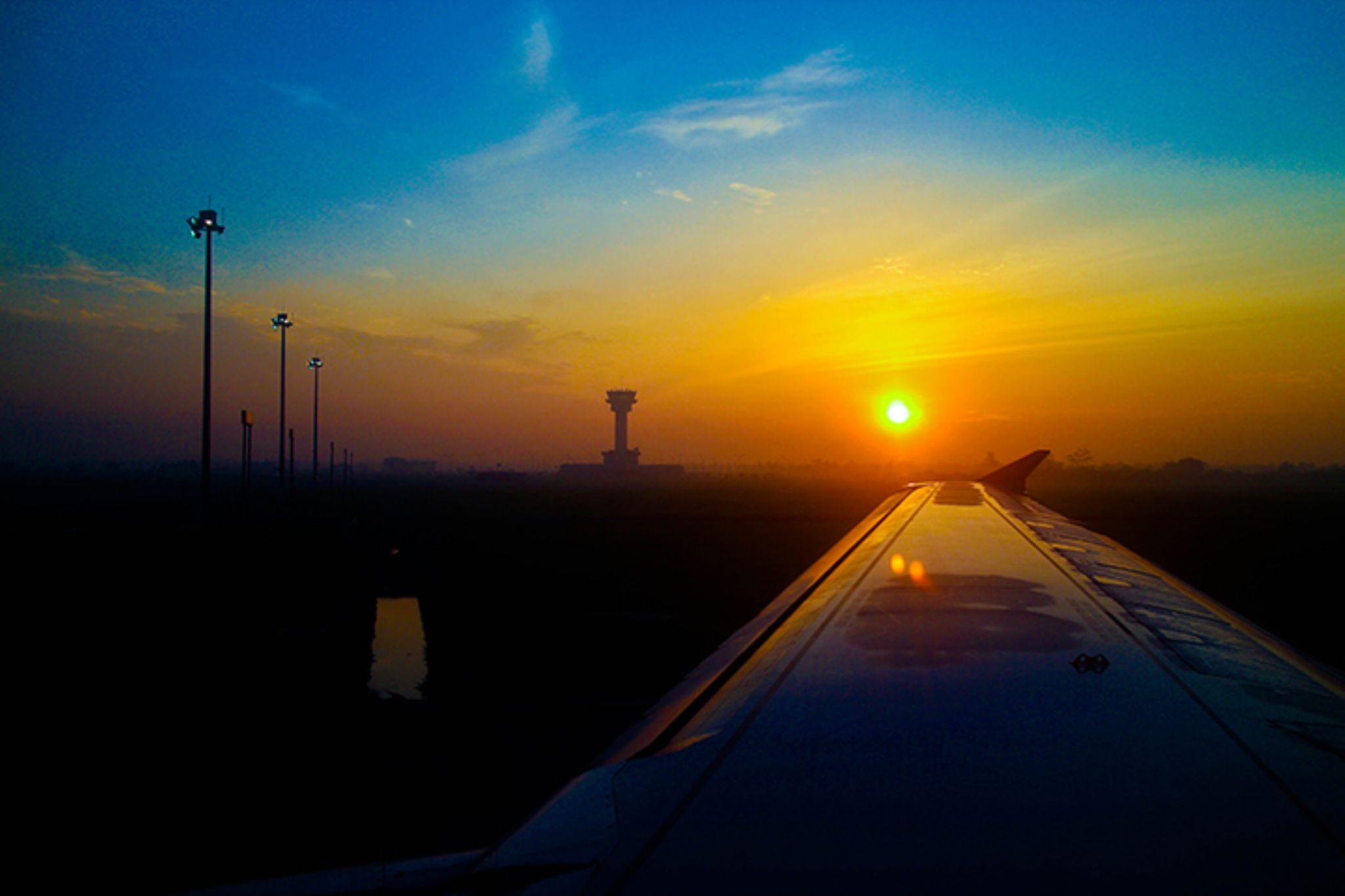sunrise Kualanamu - KNIA Indonesia by adian siregar