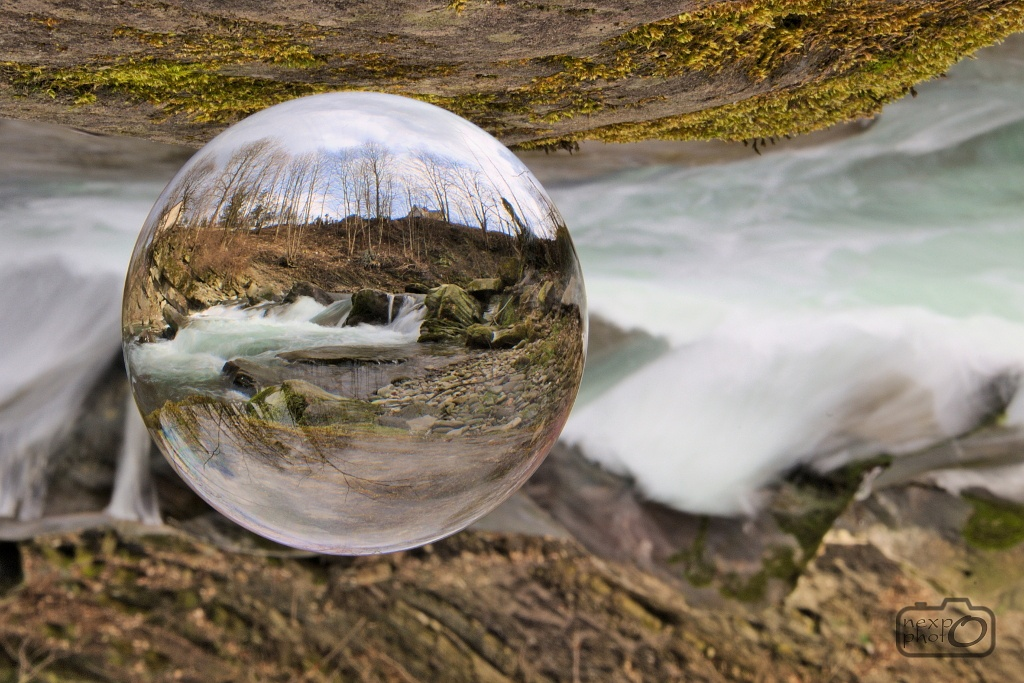 Waterfall in crystal ball by nexpo