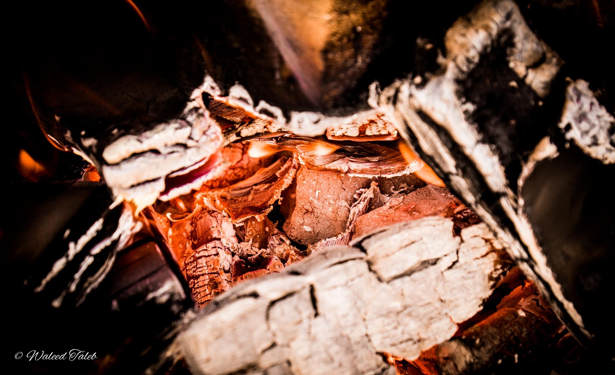 Burning coal.. by Waleed Taleb