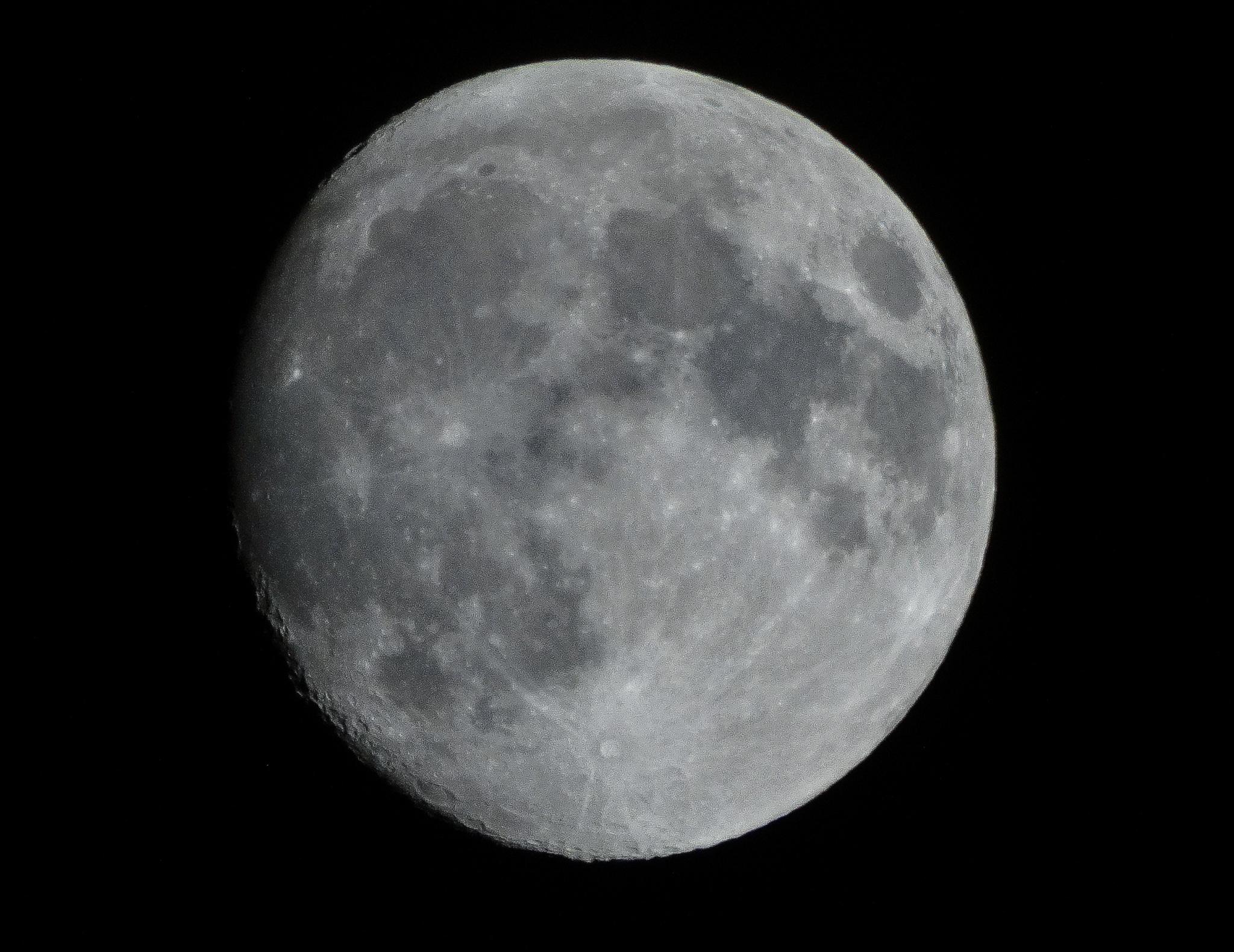 Almost full moon by Bogdan Birleanu