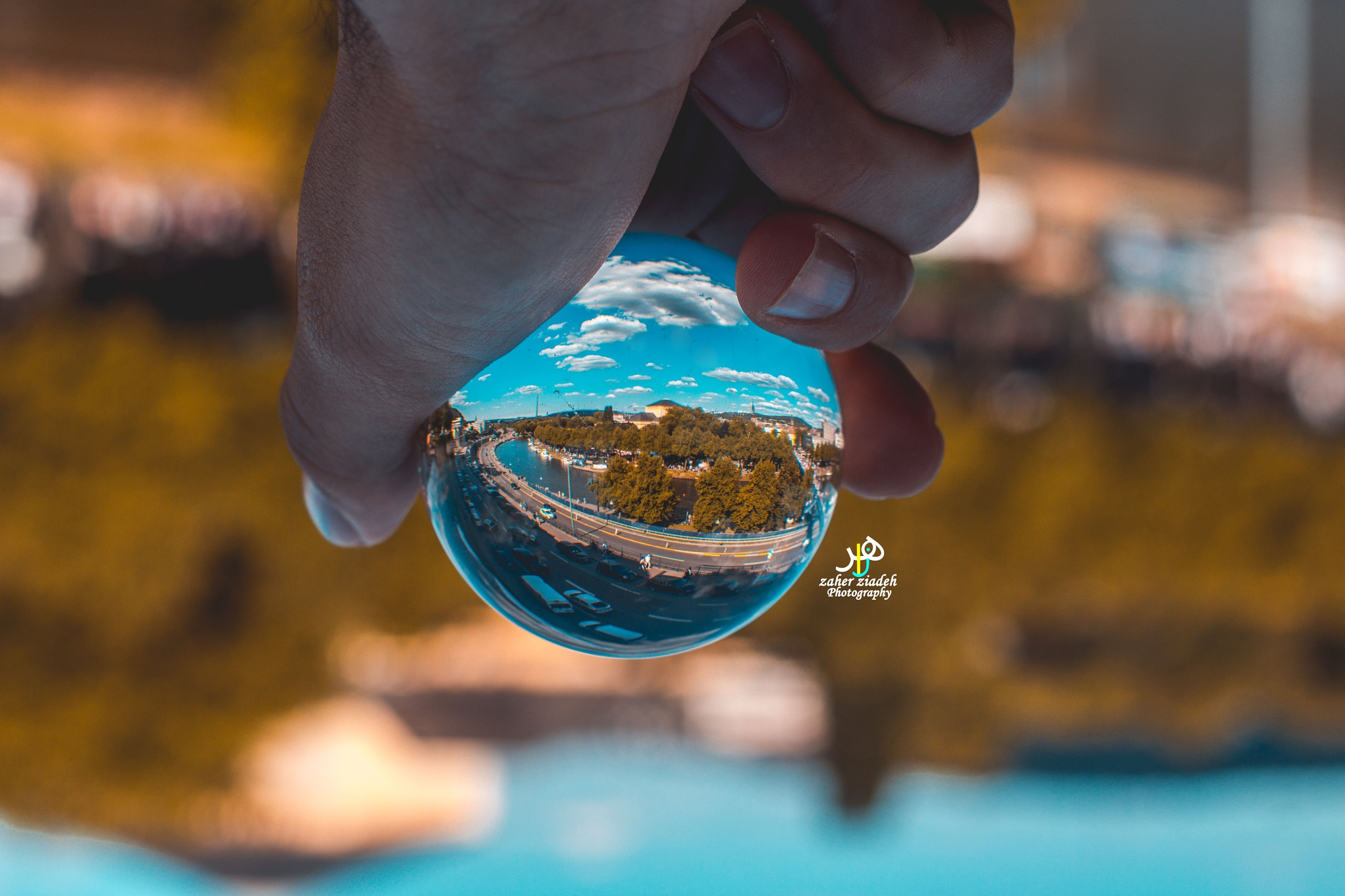 Cityscape in the ball  by Zaher Ziadeh