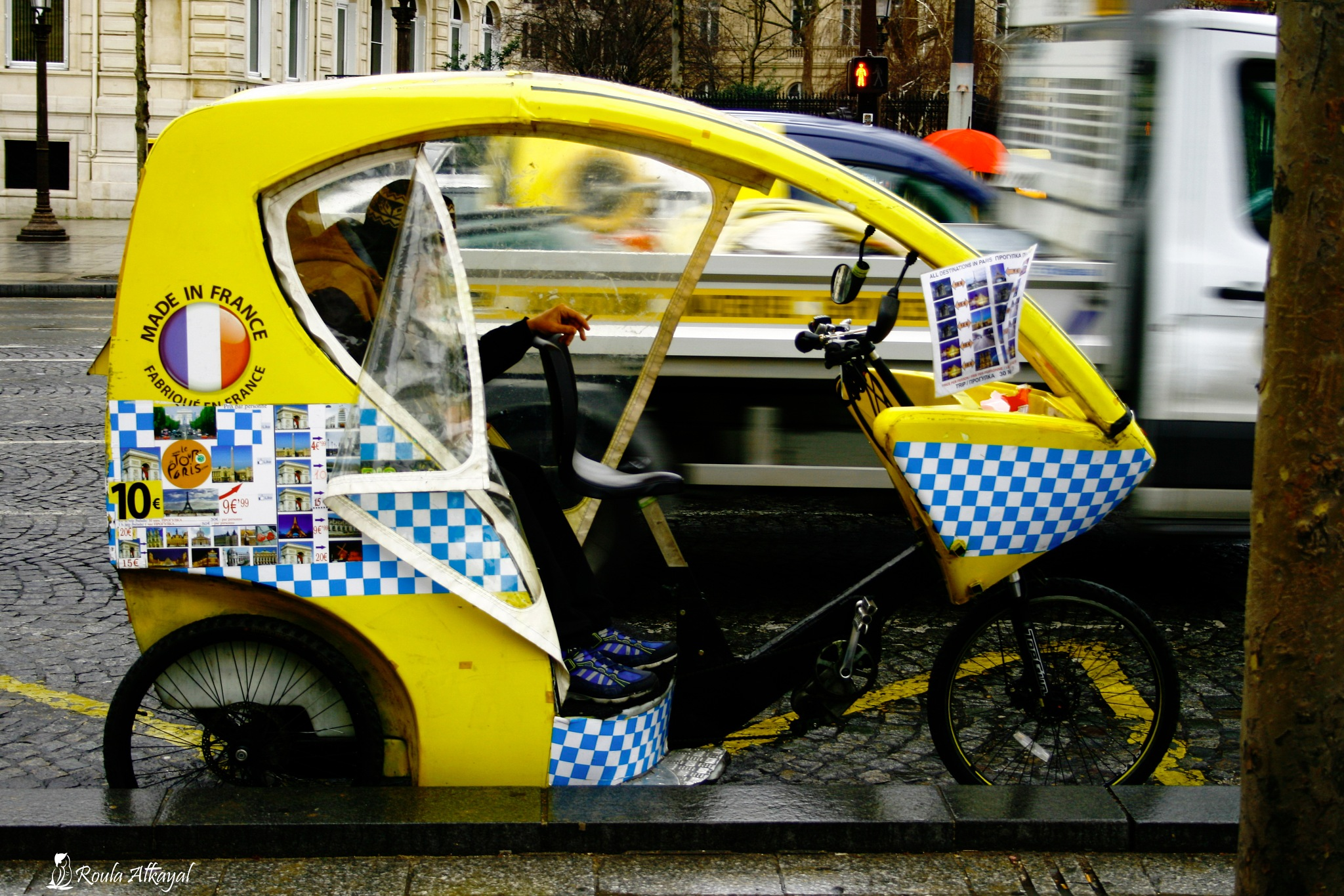 in Paris street  by Roula Kayal