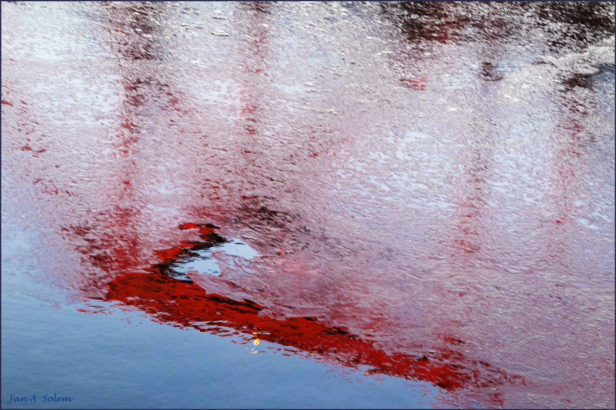 River red abstract by Jan Arvid Solem