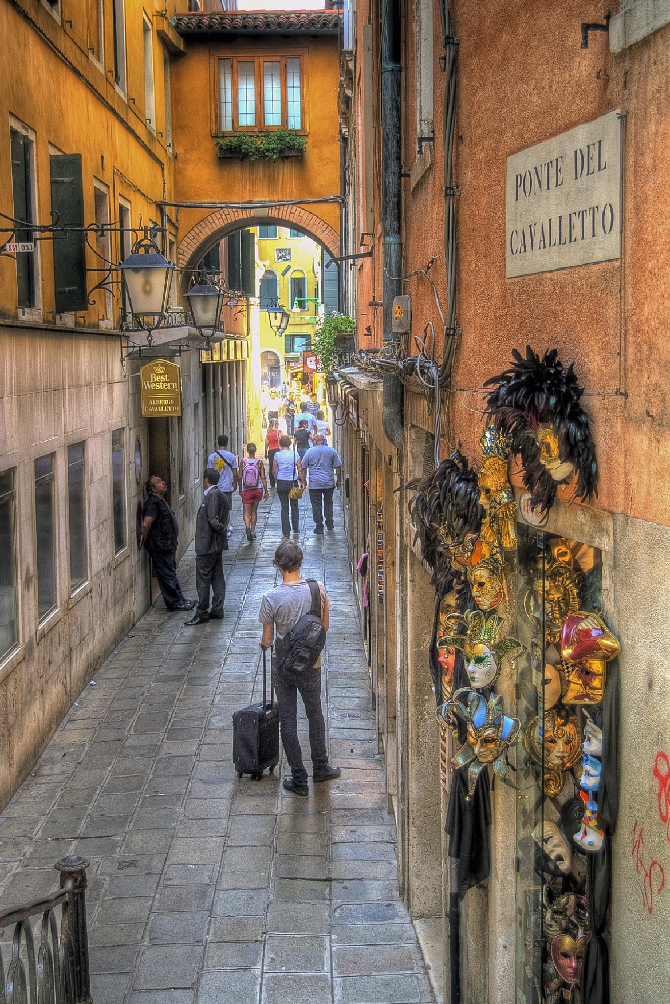 Venice street by MarieJirousek