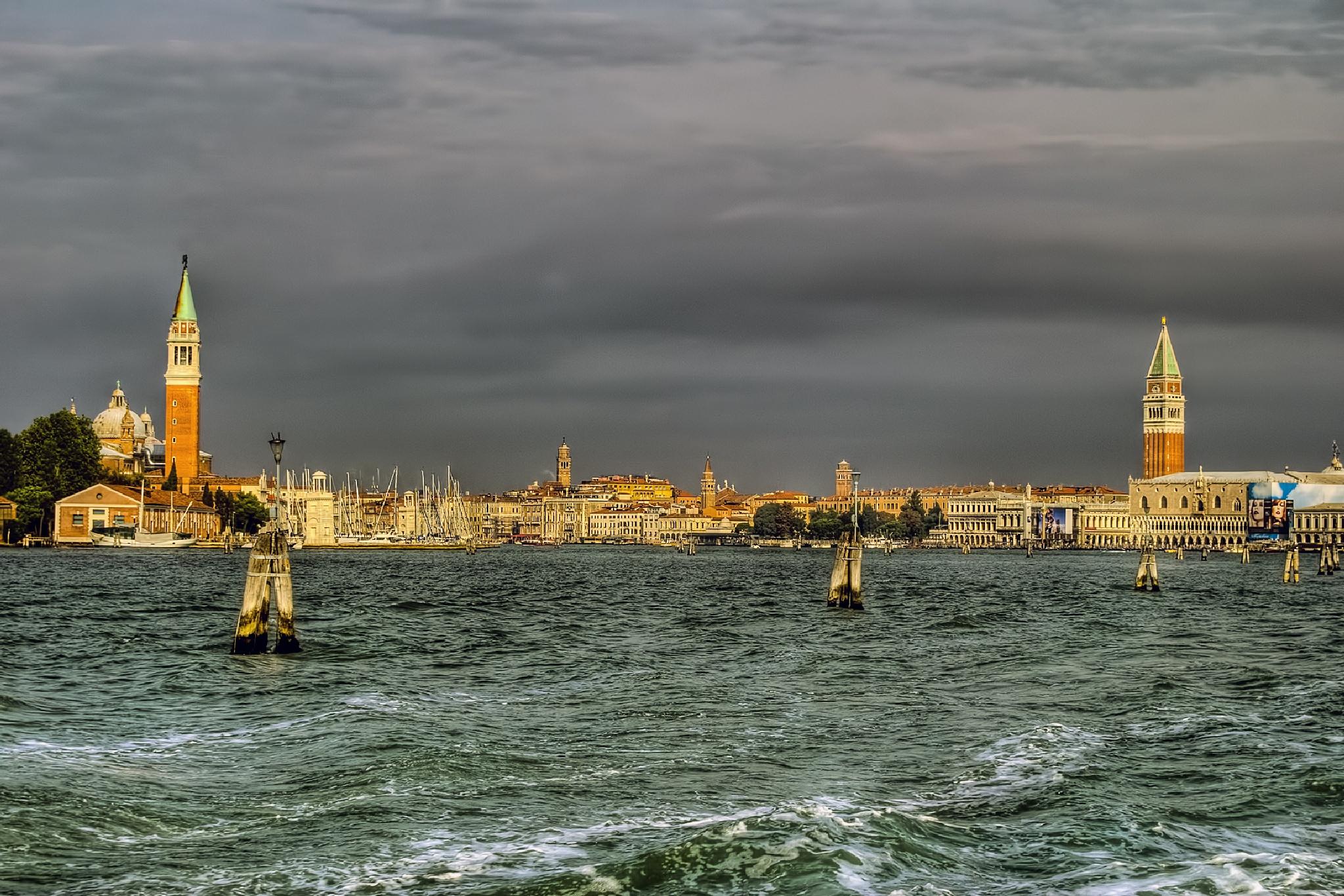 Venice seen from the boat by MarieJirousek