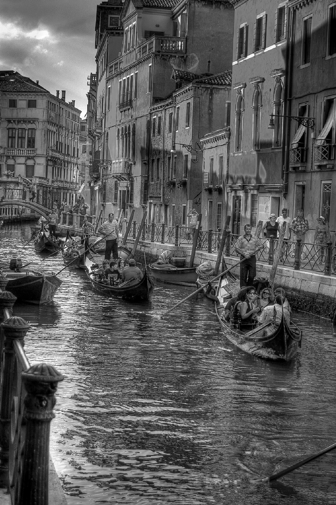 Gondolas in Venice by MarieJirousek