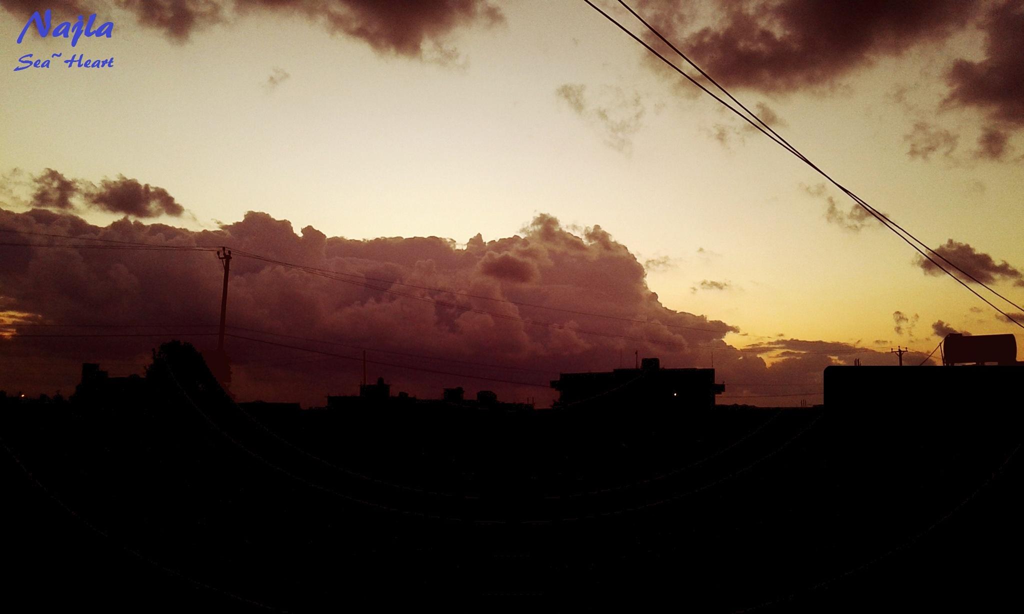 After The Sun Set by Najla Almsalati