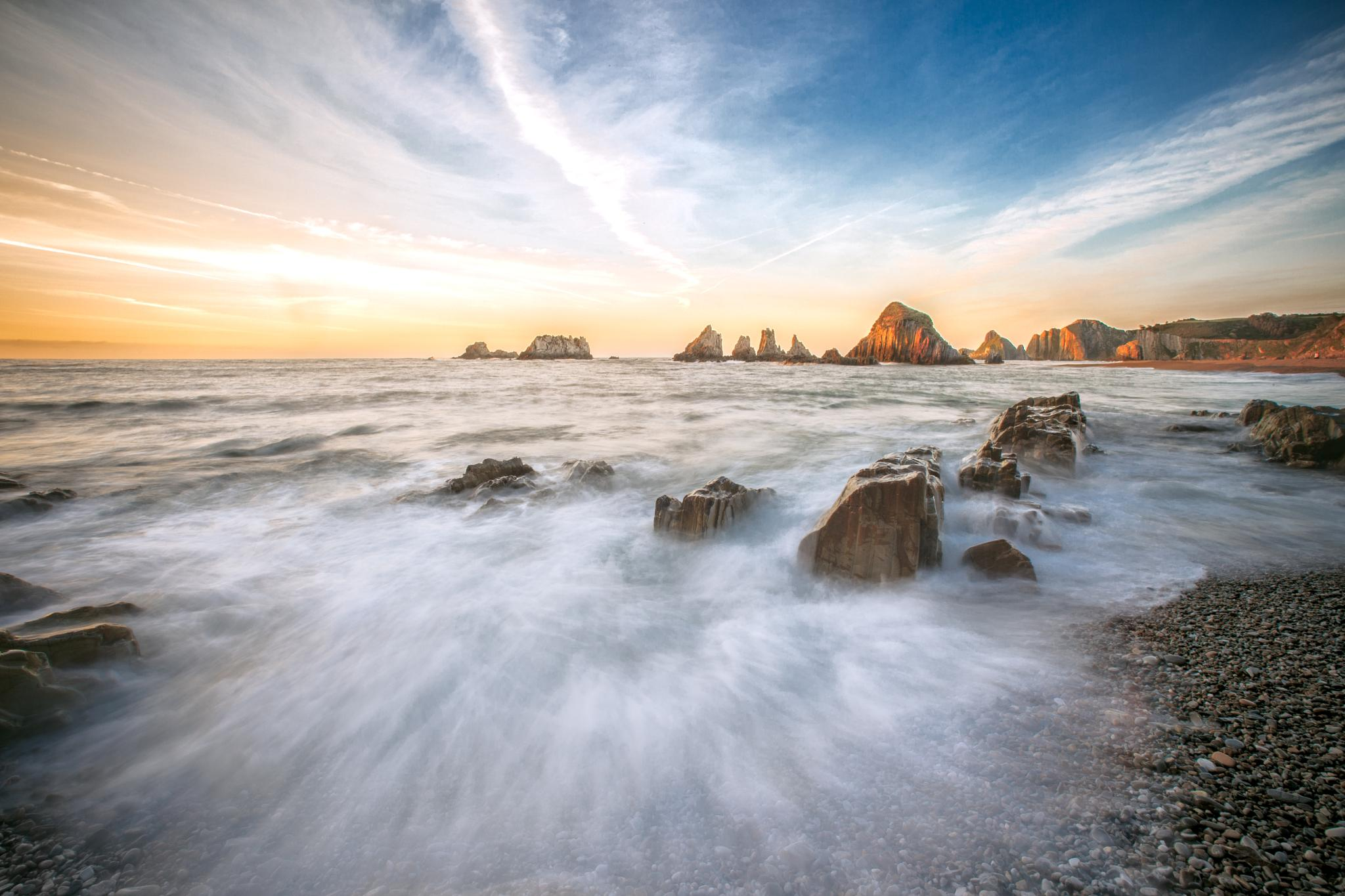 Photo in Landscape #beach #playa #landscape #scenery #scenic #paisaje #costa #coast