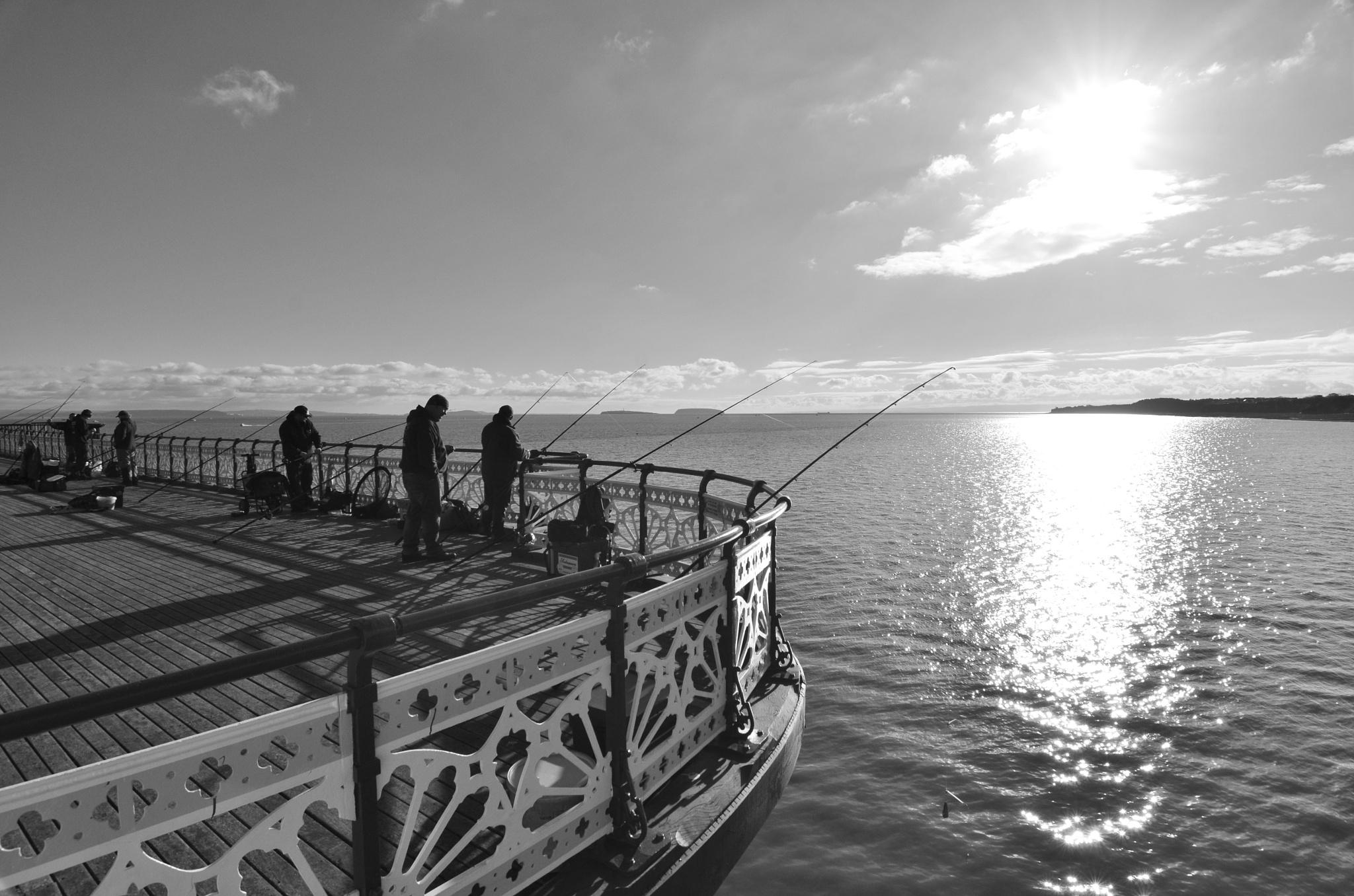 Fishing on the Pier by melaniehartshorn40