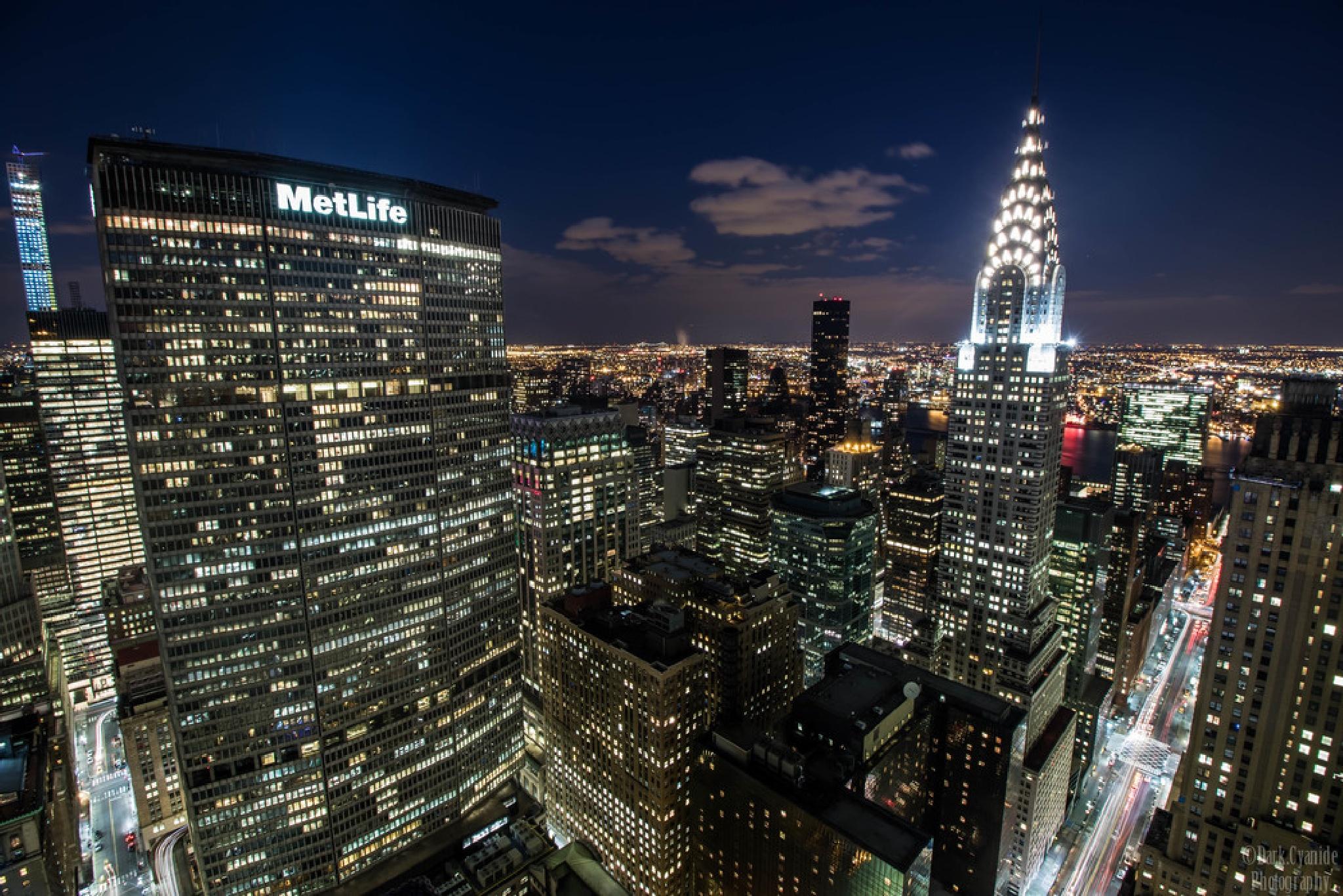 Midtown at night by Dark_Cyanide