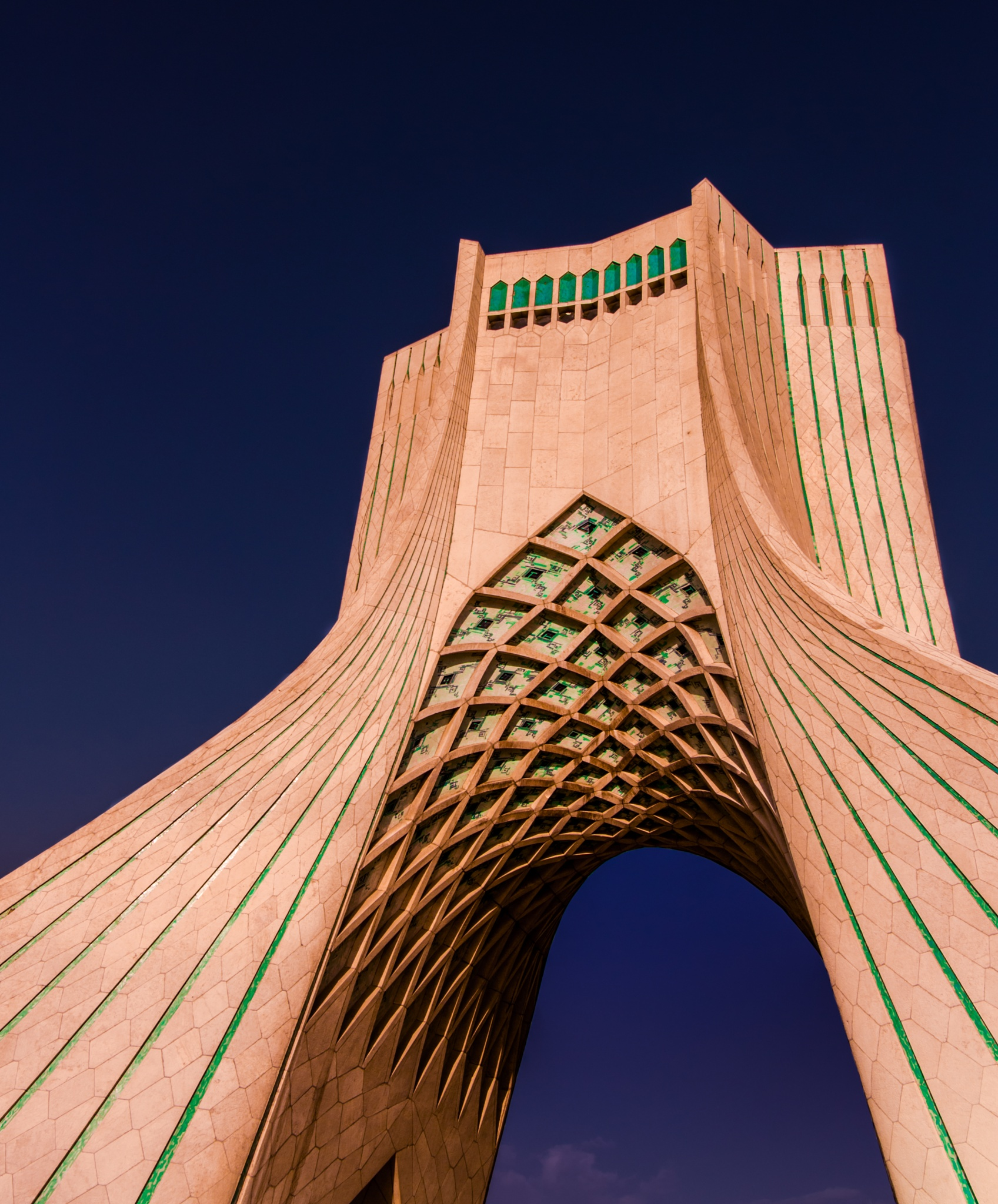 Freedom Monument in Azadi Square in central Tehran by Husam Hikmat