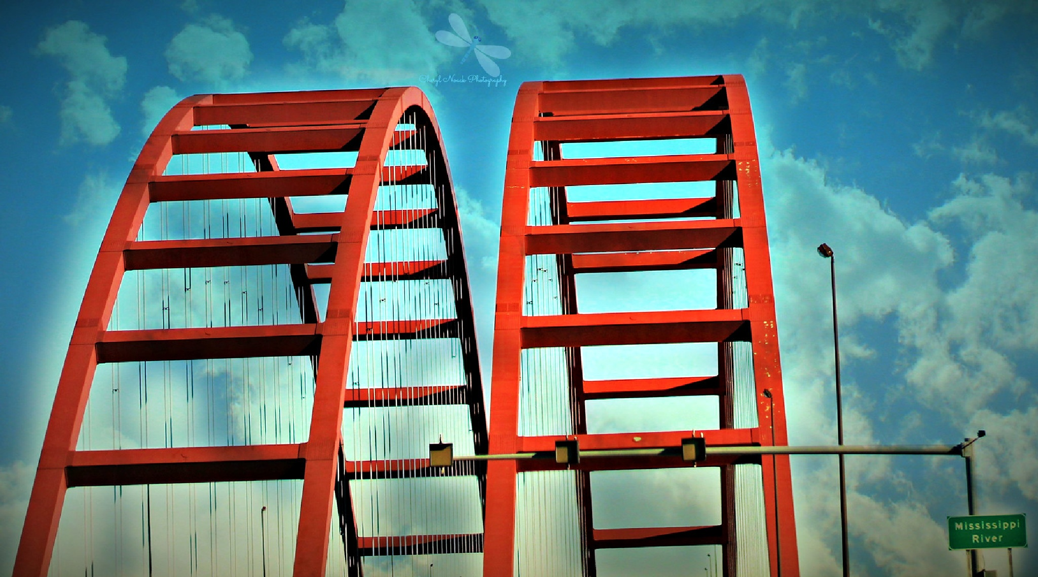 Jefferson Barracks Bridge  by Cheryl Noack Photography
