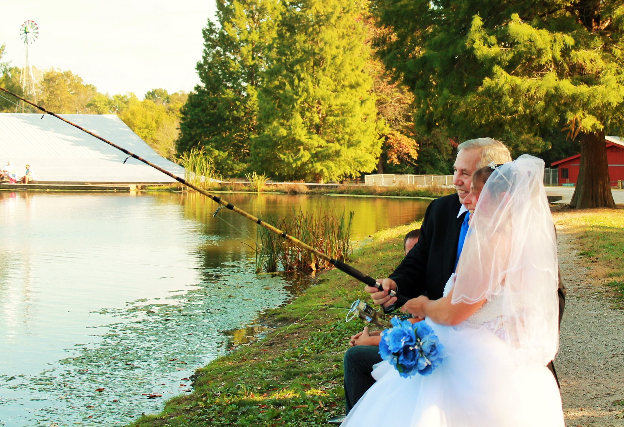 Bride & Groom Fishing on their wedding day  by Beautiful Nature