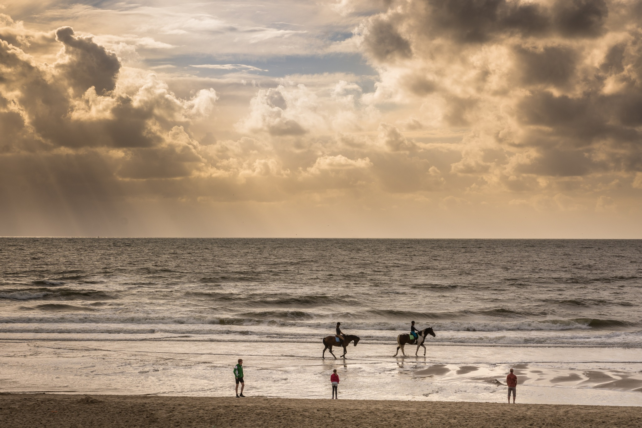 Riding down the beach by Men