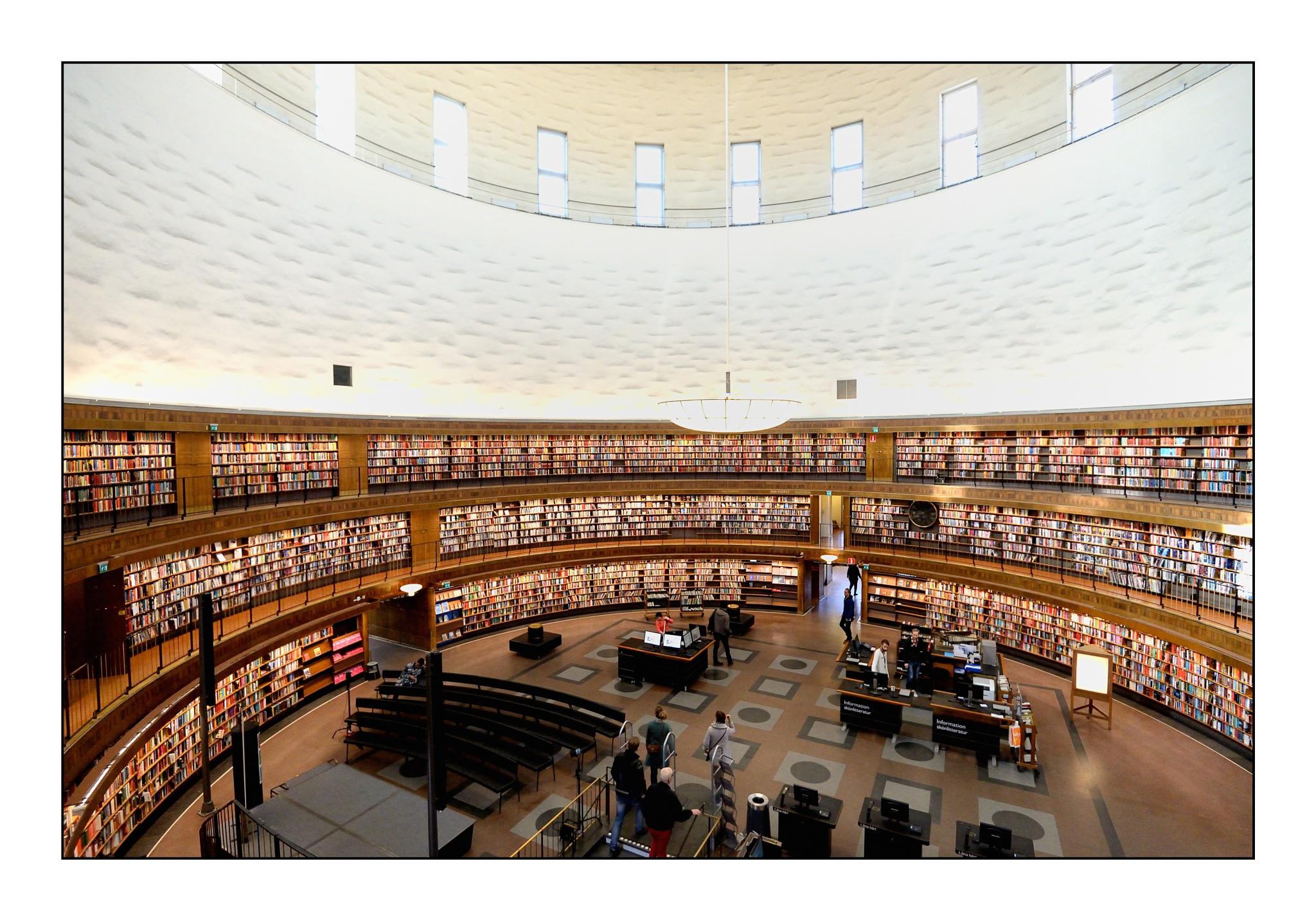 Photo in Architecture #stockholm #sweden #library #stockholm public library #nikon #nikon d610 #d610