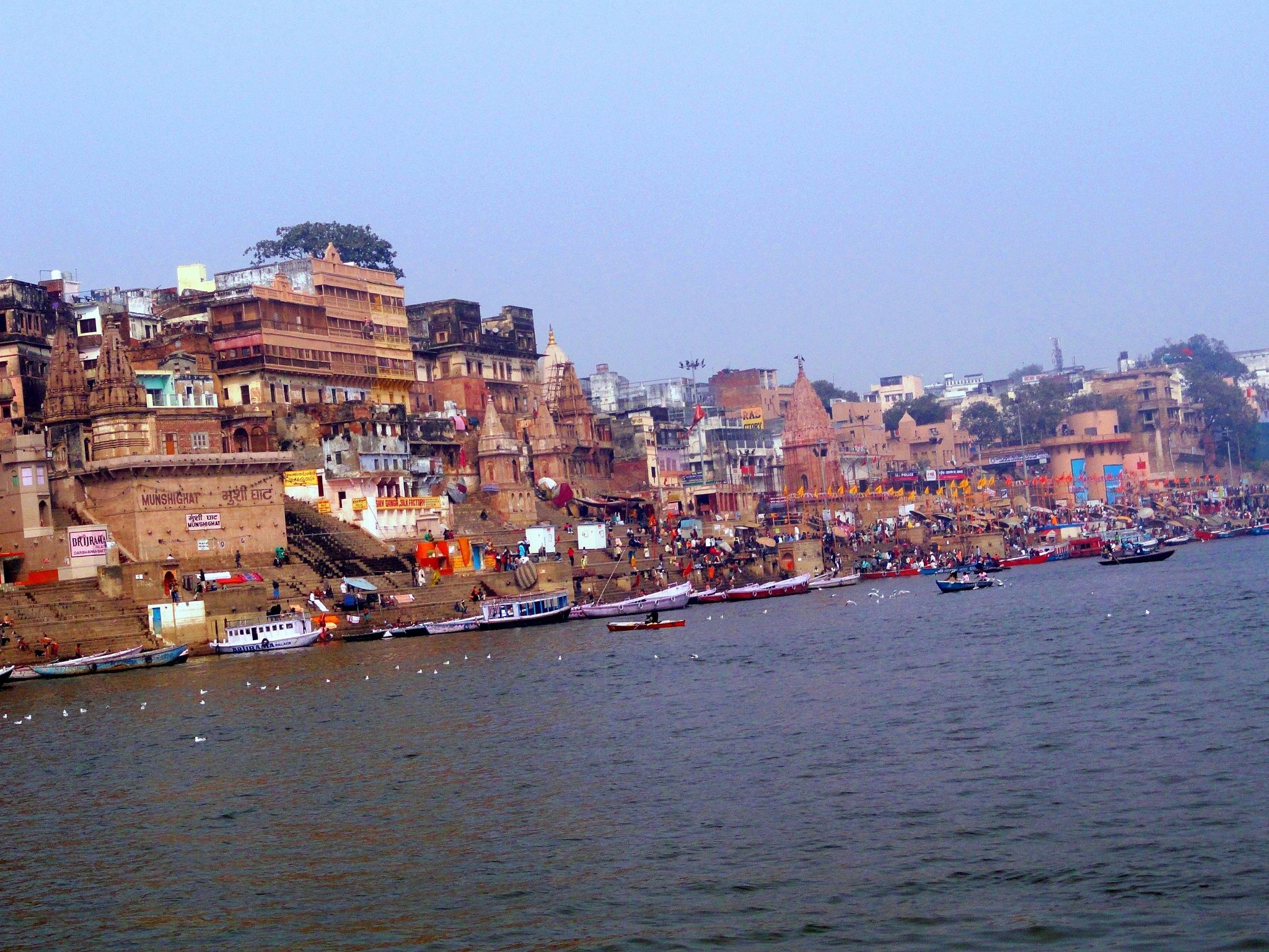 Beauty of Banaras at Ganges 5 by Suresh Tewari