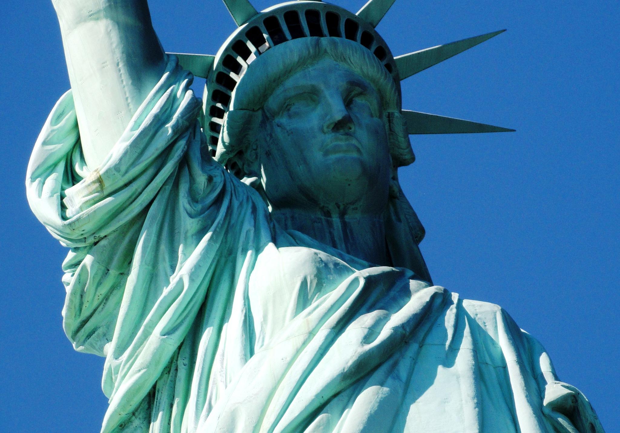Closer look - Statue of Liberty by Suresh Tewari
