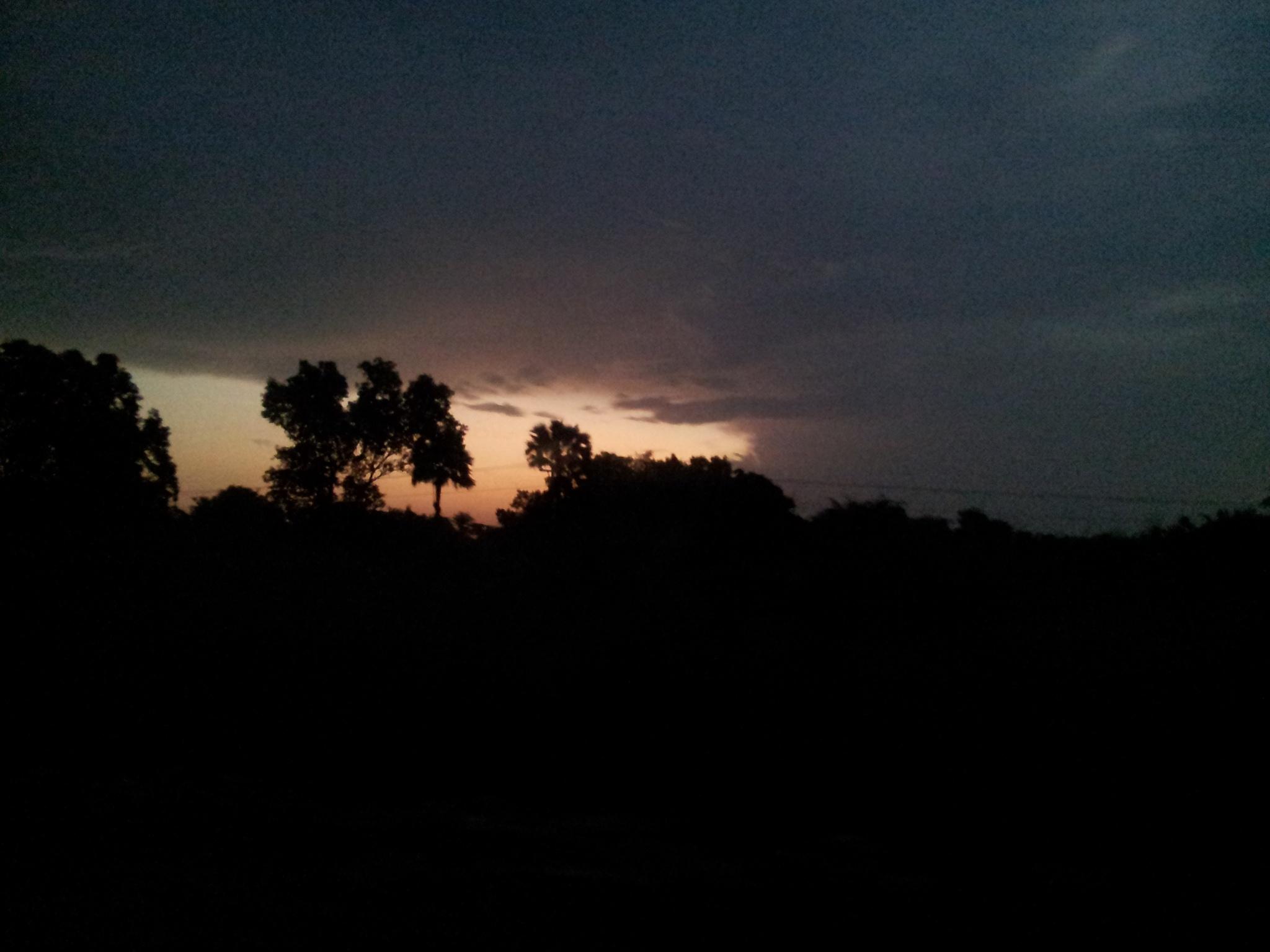 The falling evening by Suresh Tewari