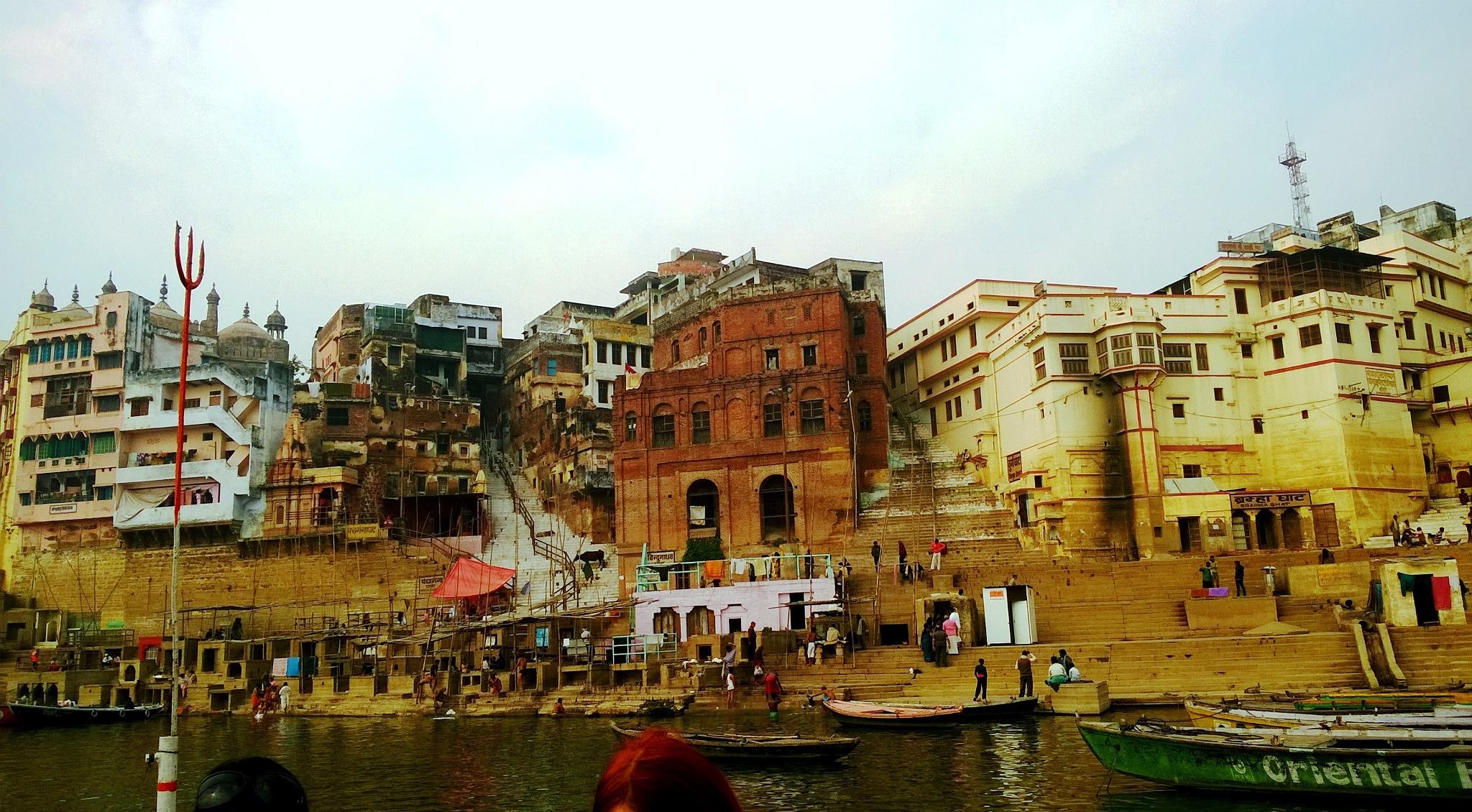 Beauty of Banaras at Ganges 13 by Suresh Tewari